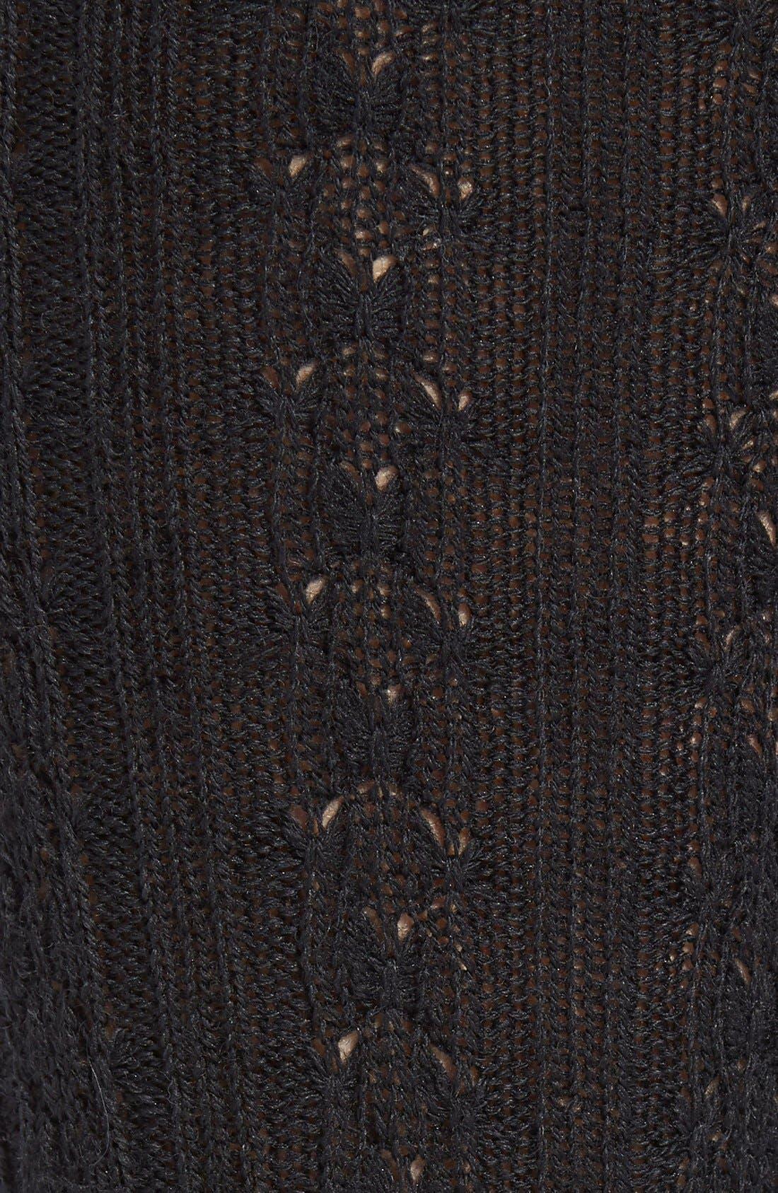 Cable Knit Knee Socks,                             Alternate thumbnail 5, color,