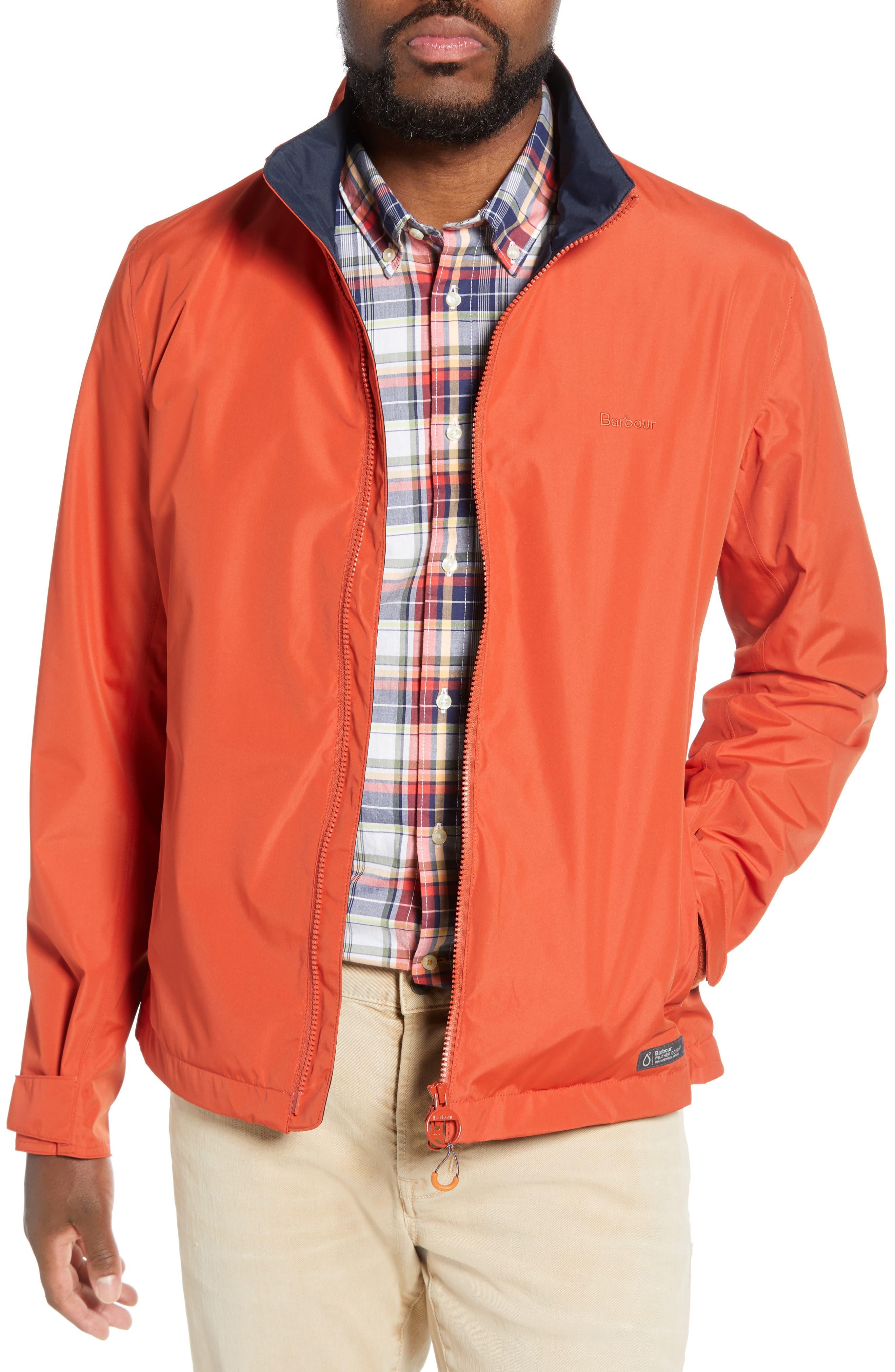 Barbour Rye Waterproof Slim Fit Jacket, Orange