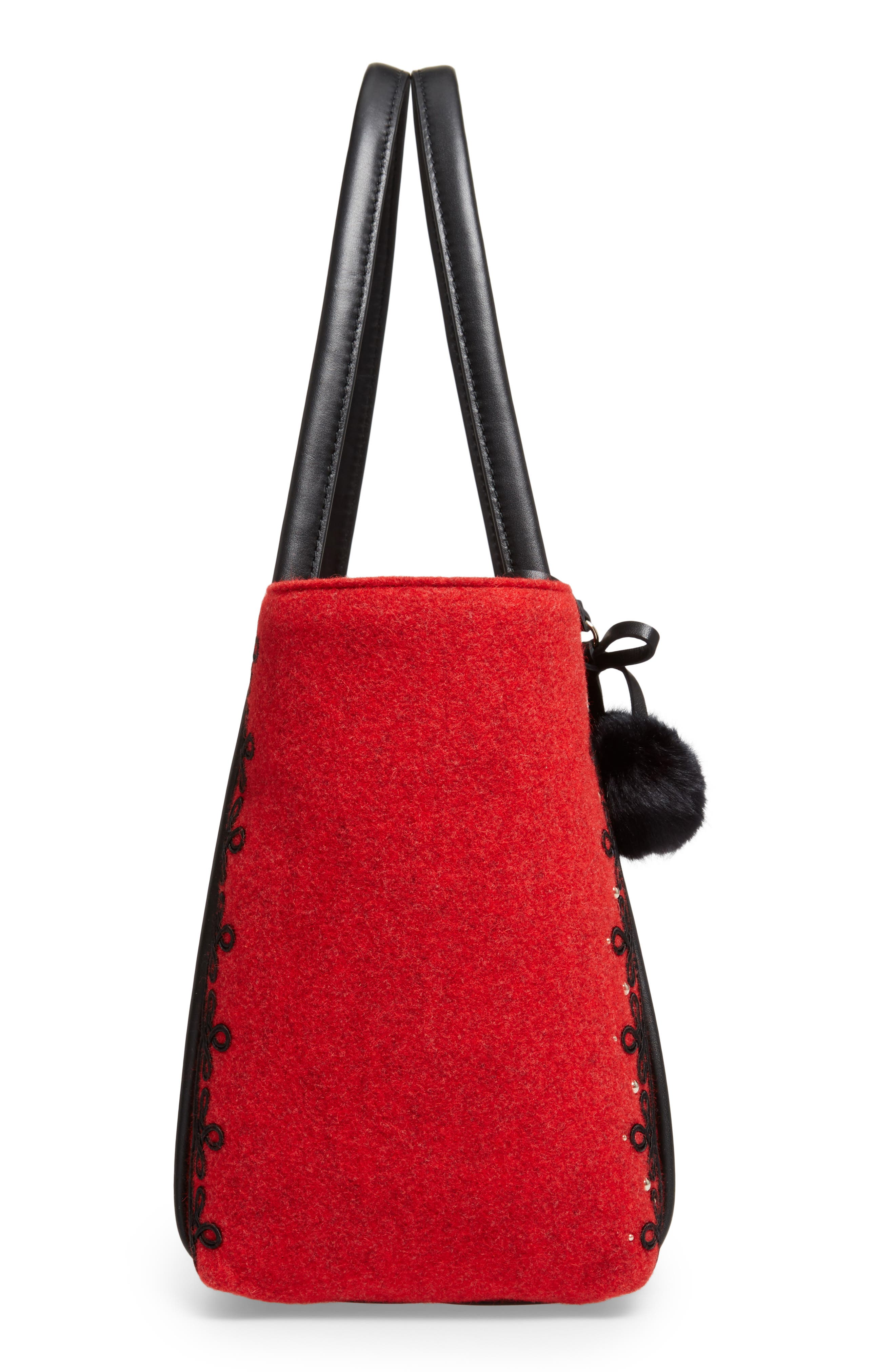 byrne street - ronan wool tote,                             Alternate thumbnail 5, color,                             631