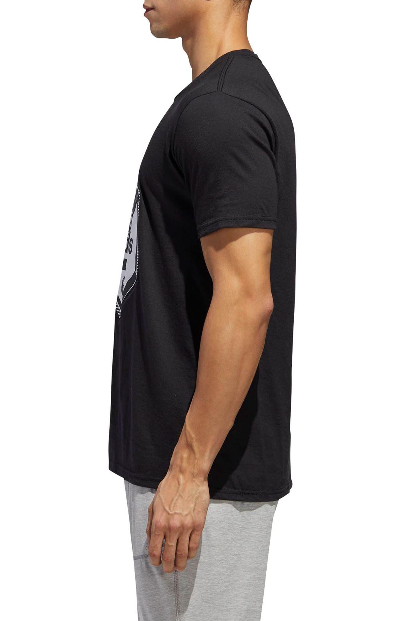Slim Fit Soccer Graphic T-Shirt,                             Alternate thumbnail 3, color,                             001