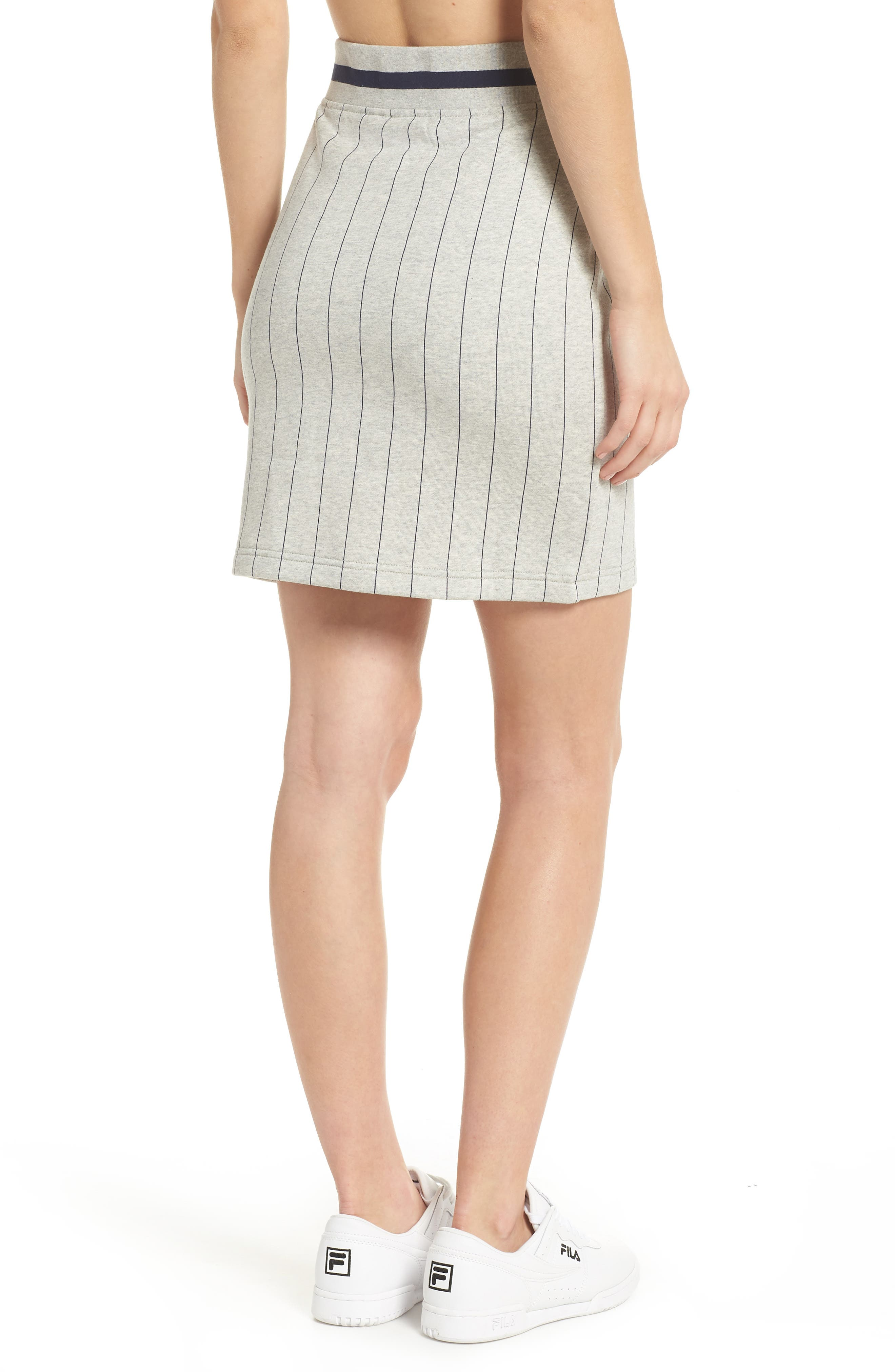 Francesca Pinstripe Skirt,                             Alternate thumbnail 2, color,                             025