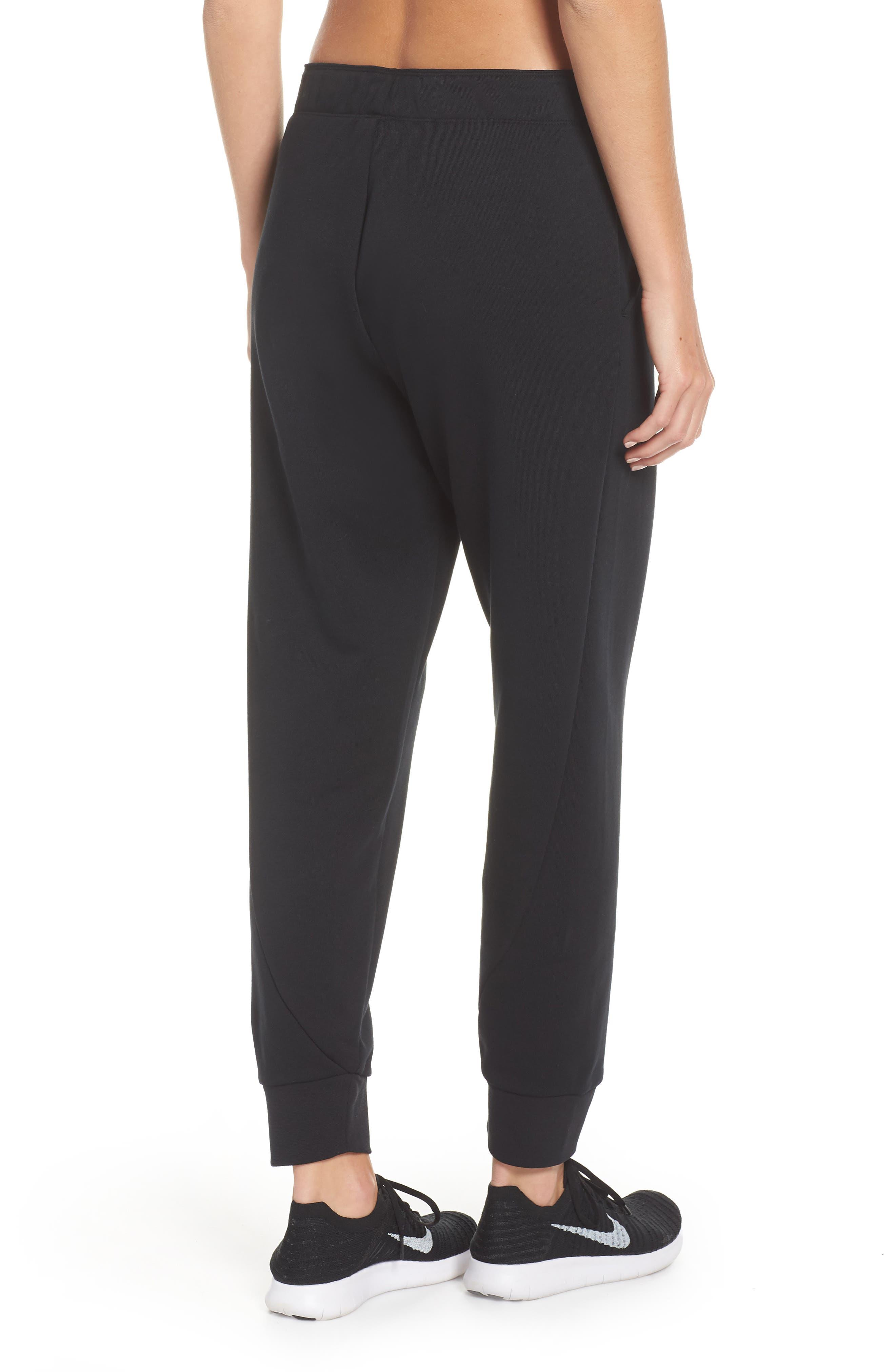 Tapered Training Pants,                             Alternate thumbnail 2, color,                             BLACK/ BLACK