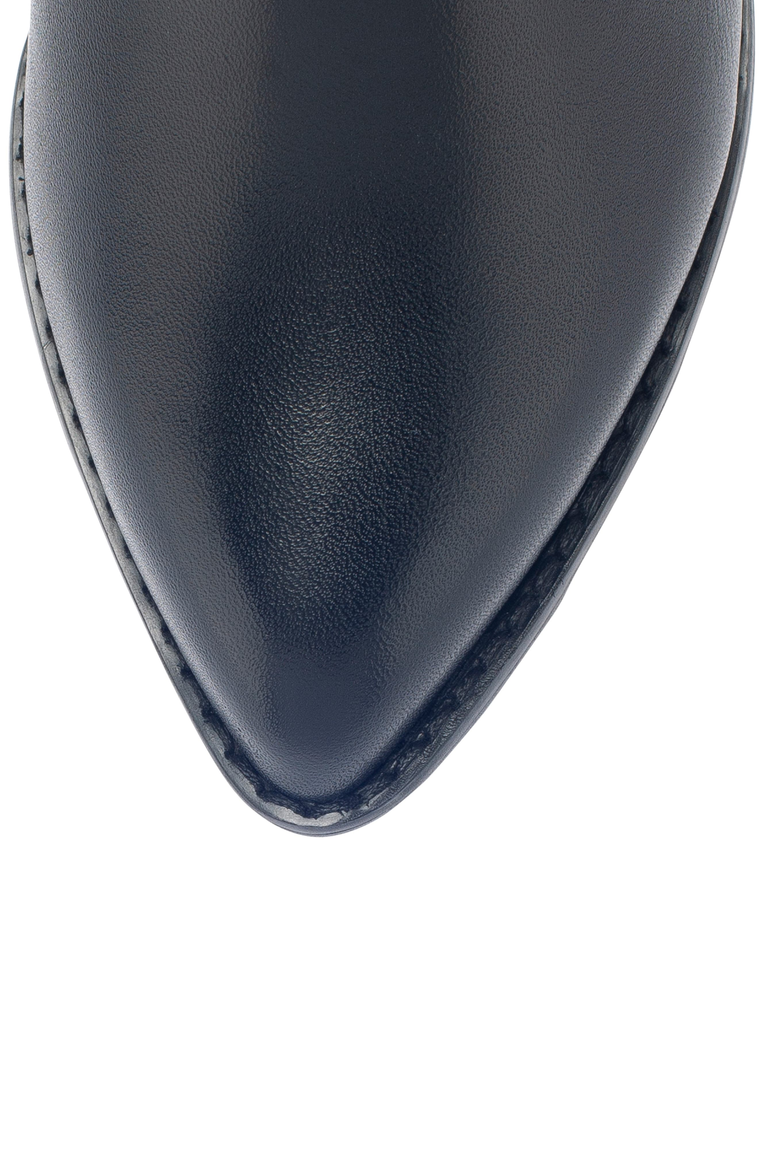 Tasha Waterproof Bootie,                             Alternate thumbnail 5, color,                             BLACK LEATHER