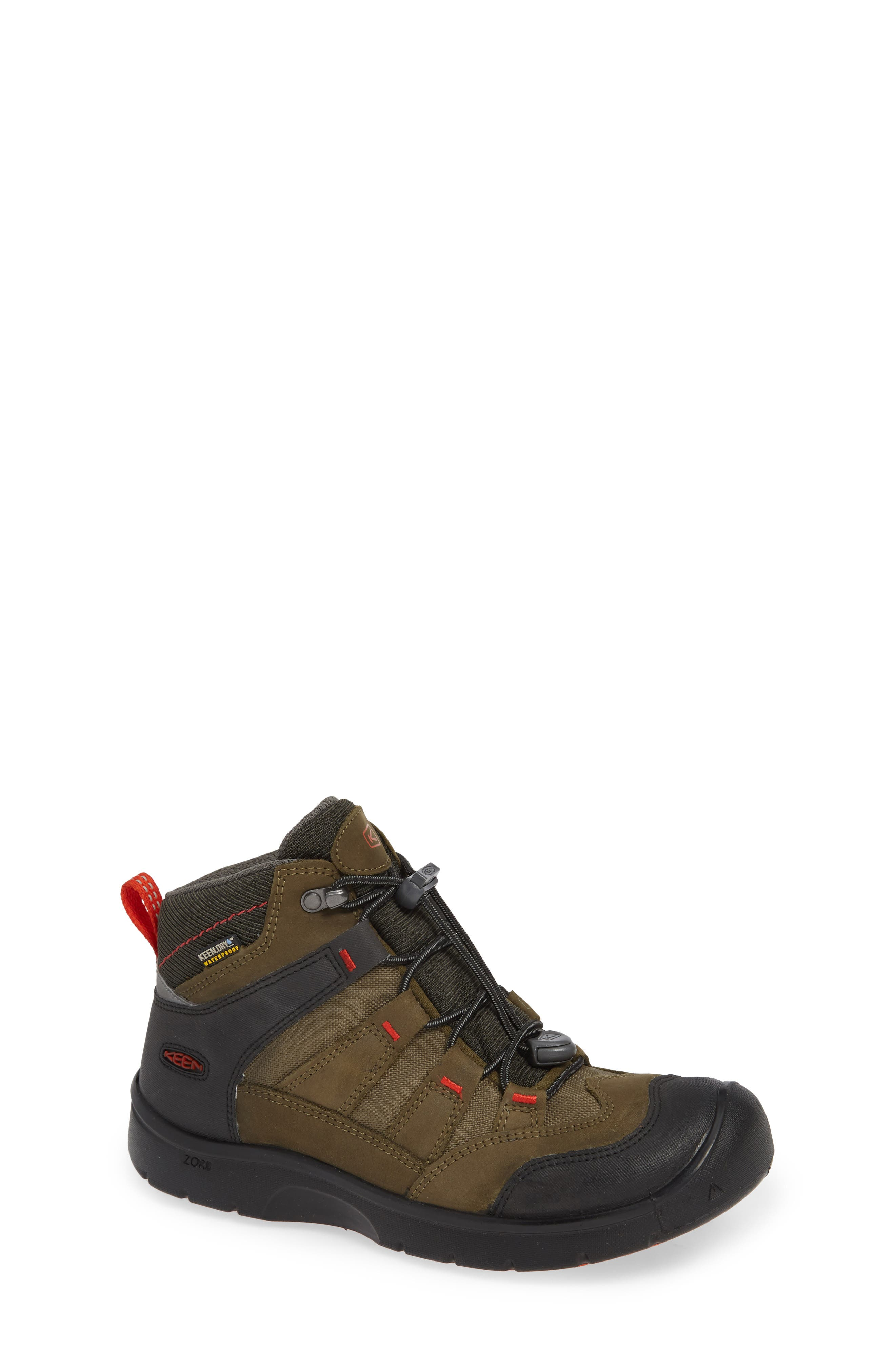 Hikeport Strap Waterproof Mid Boot,                         Main,                         color, MARTINI OLIVE/ PUREED PUMPKIN