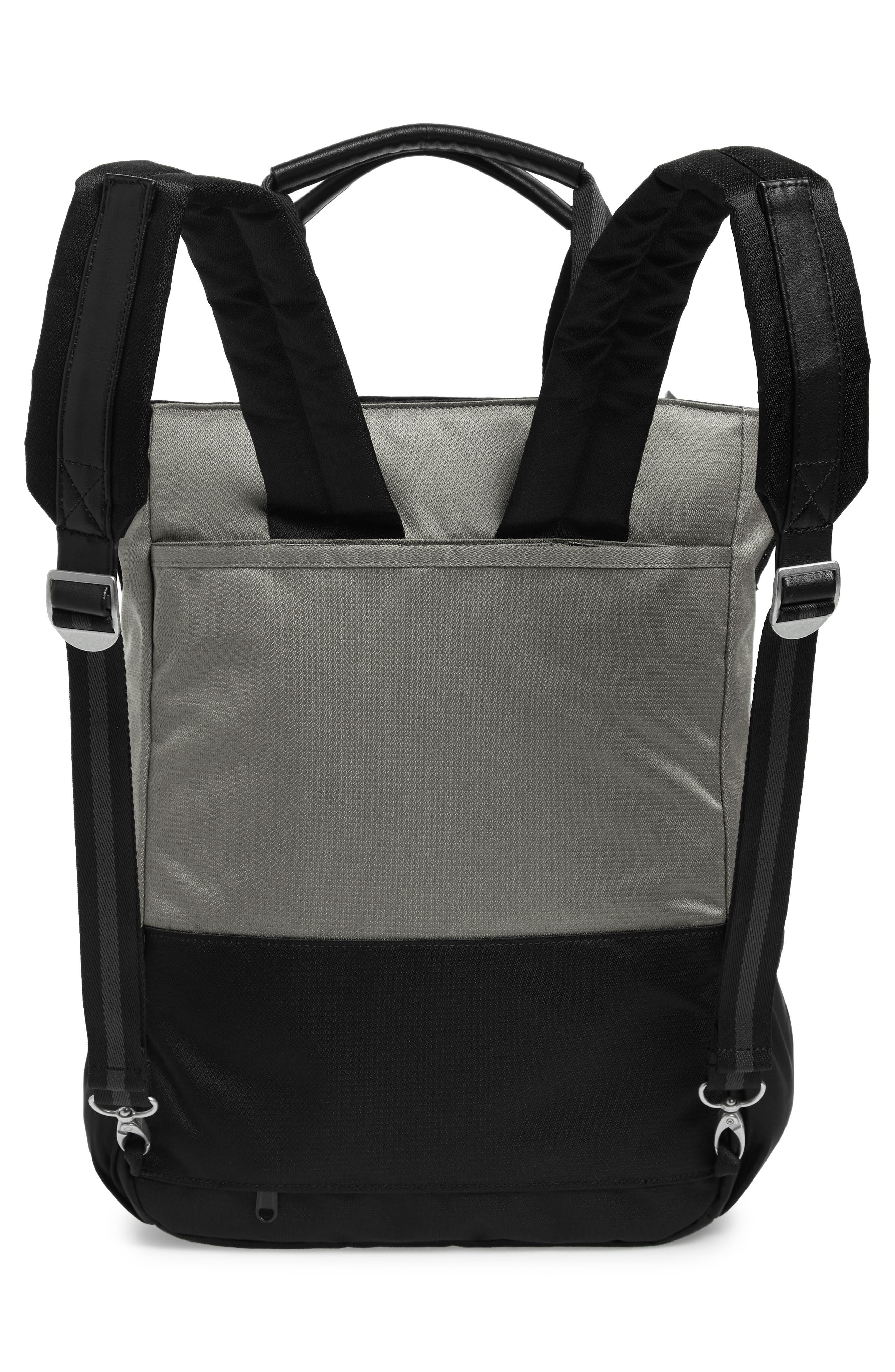 Camden RFID Convertible Backpack,                             Alternate thumbnail 5, color,                             GREY FLINT/ BLACK