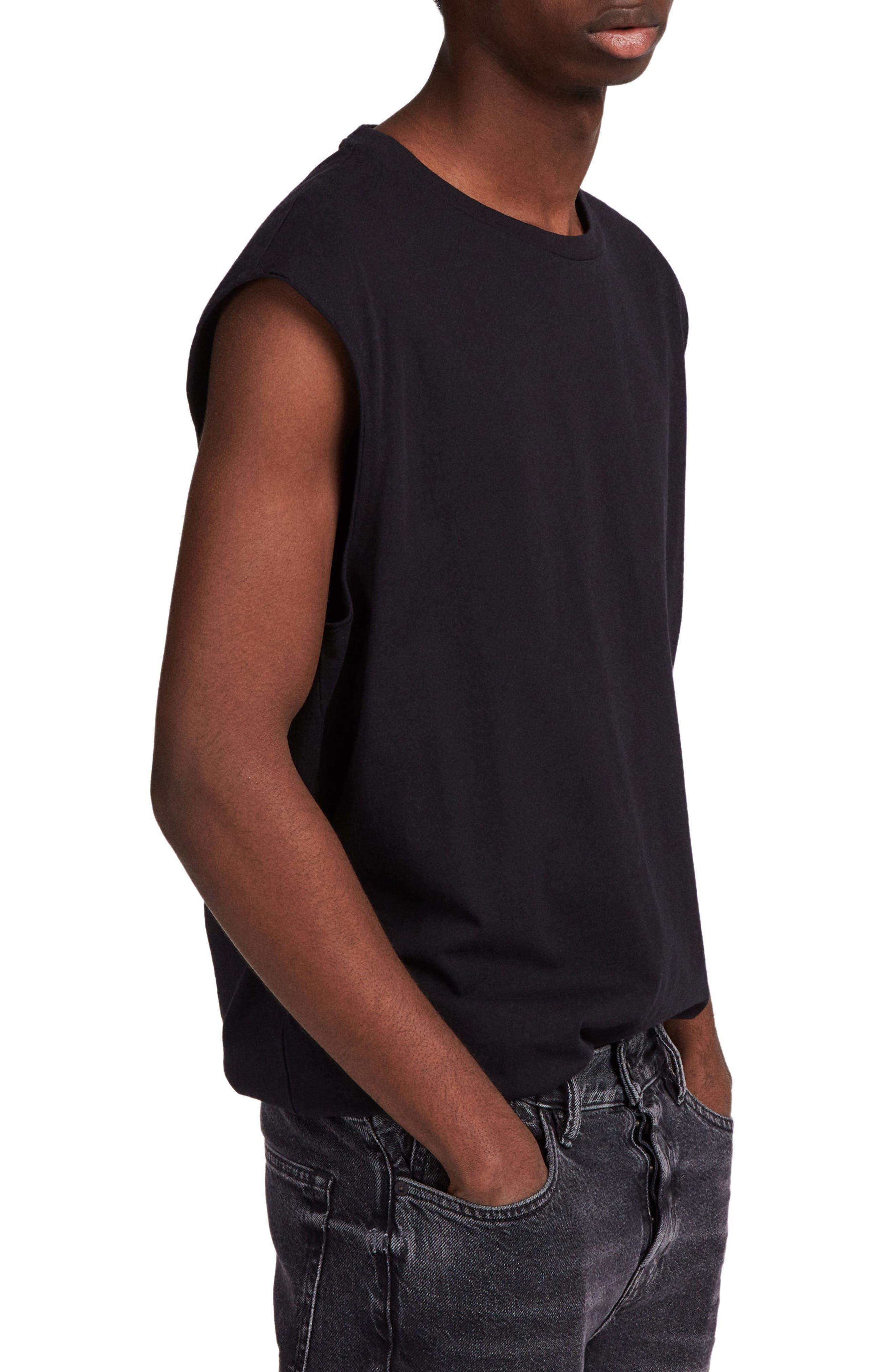 Heton Sleeveless T-Shirt,                             Alternate thumbnail 3, color,                             001