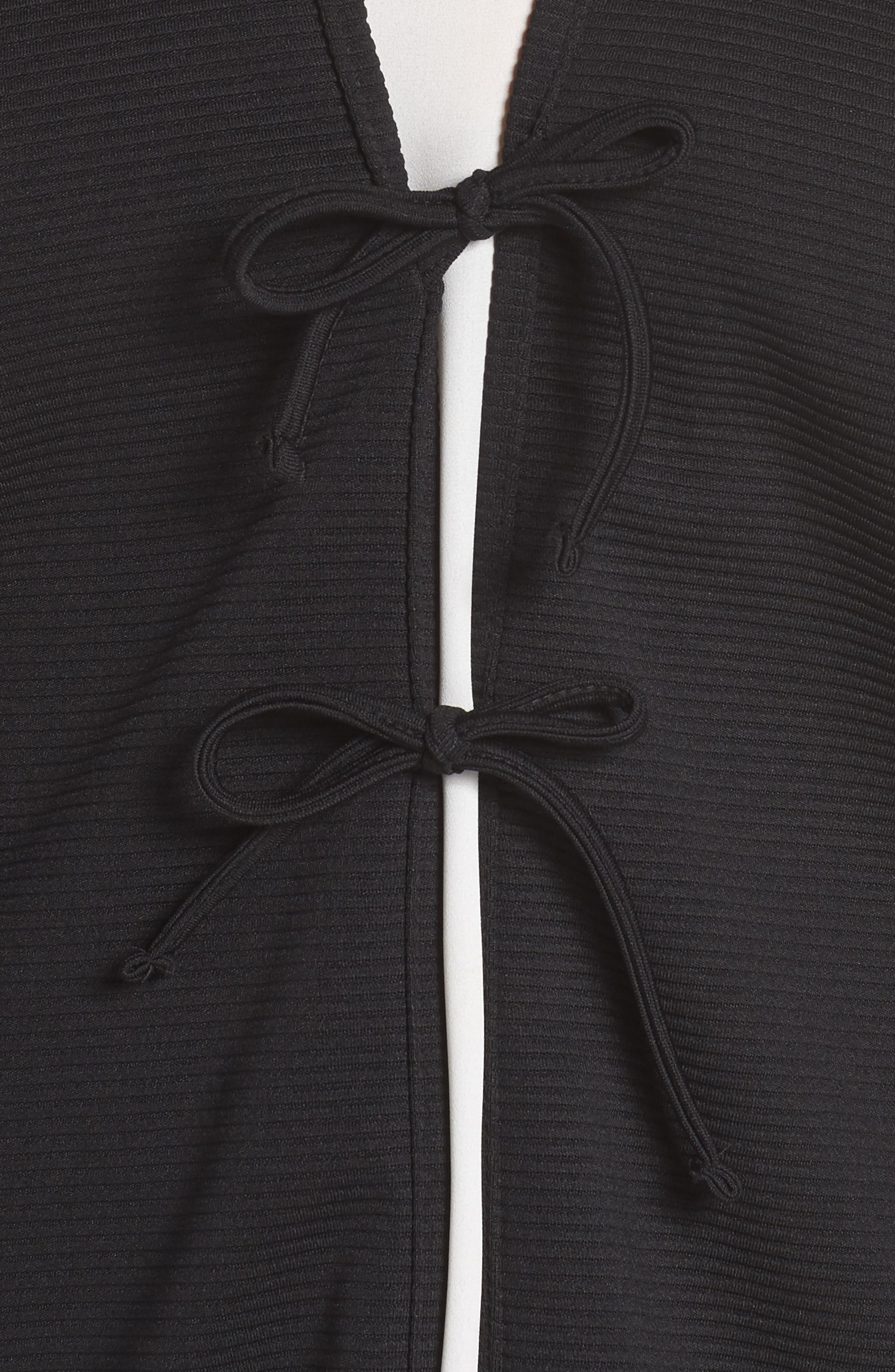 The Lacquer Bonded Jersey Kimono,                             Alternate thumbnail 4, color,                             001