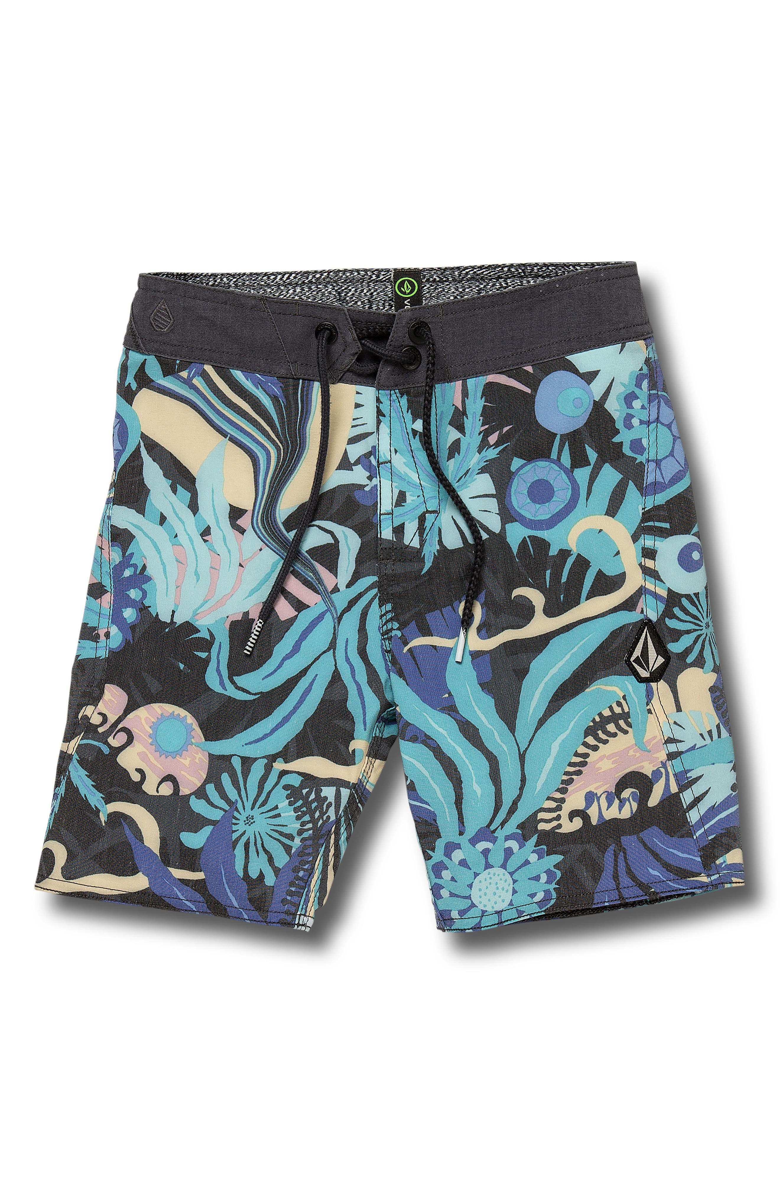 Toddler Boys Volcom Tripped Board Shorts Size 4T  Black