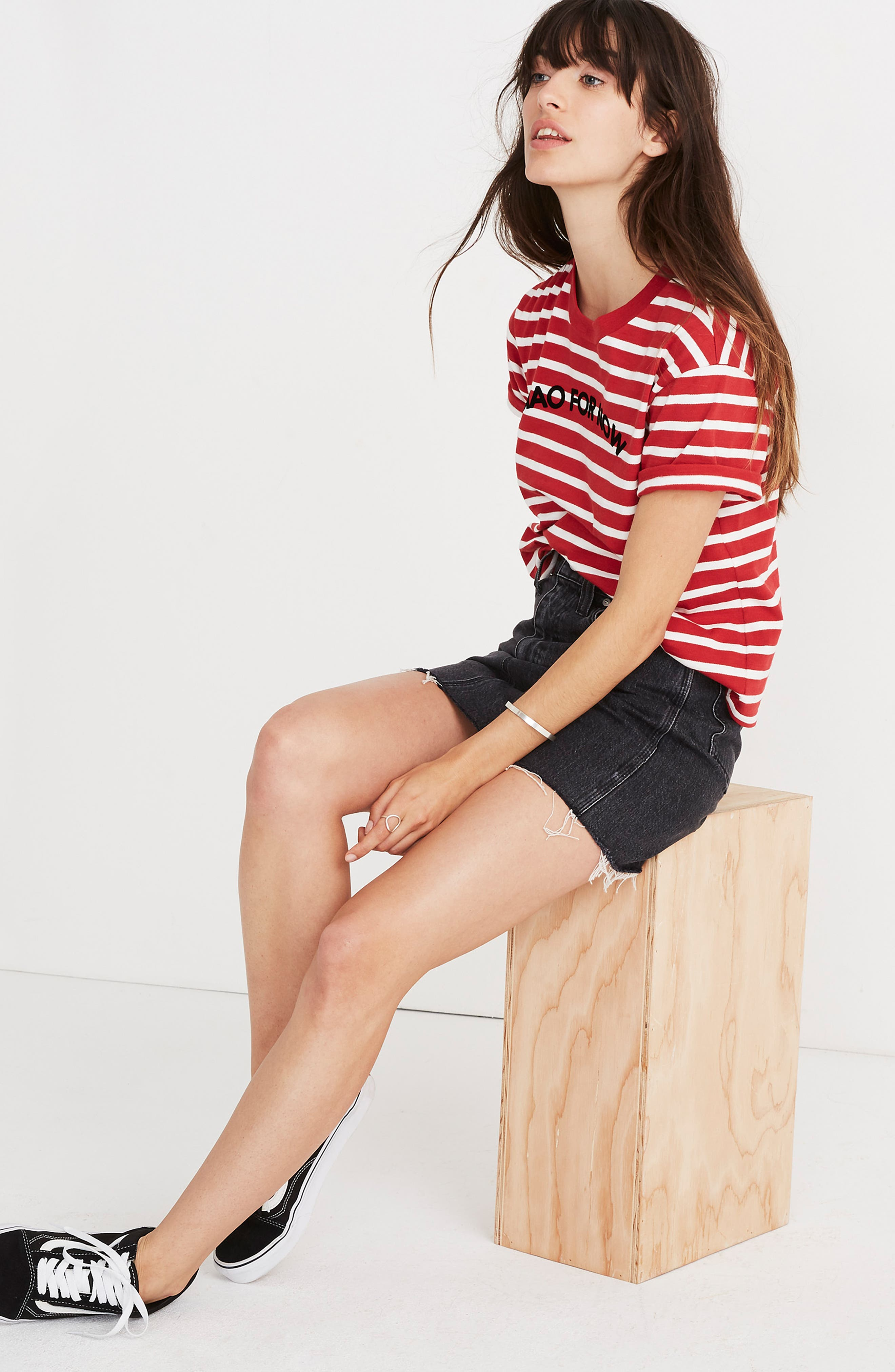 MADEWELL,                             Stripe Ciao for Now Tee,                             Alternate thumbnail 8, color,                             600