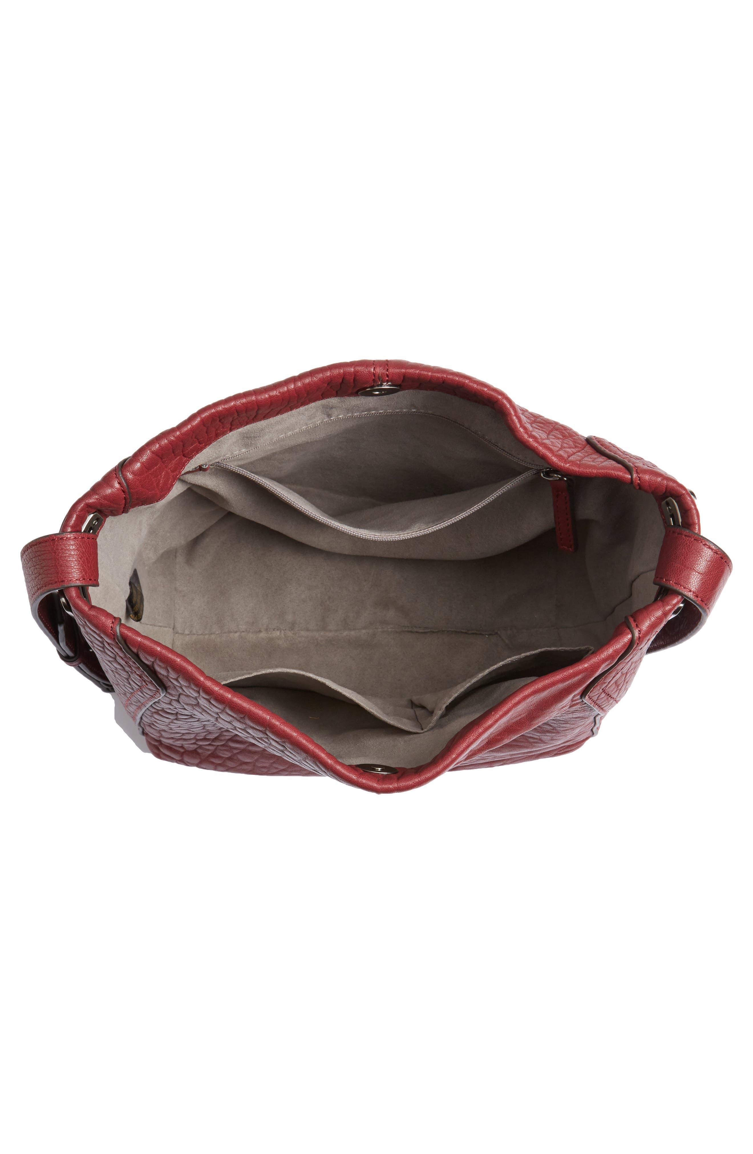 Fava Leather Bucket Bag,                             Alternate thumbnail 12, color,