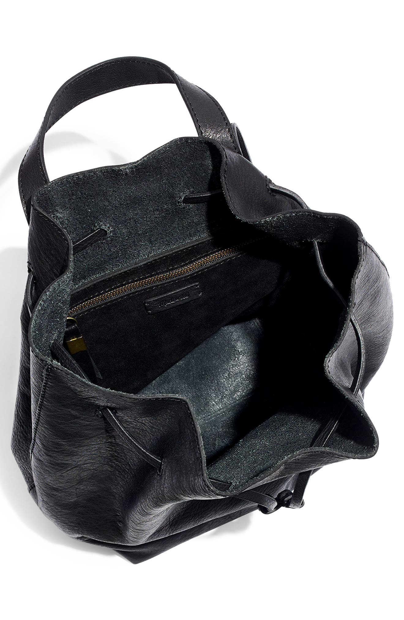 Somerset Leather Backpack,                             Alternate thumbnail 4, color,                             001
