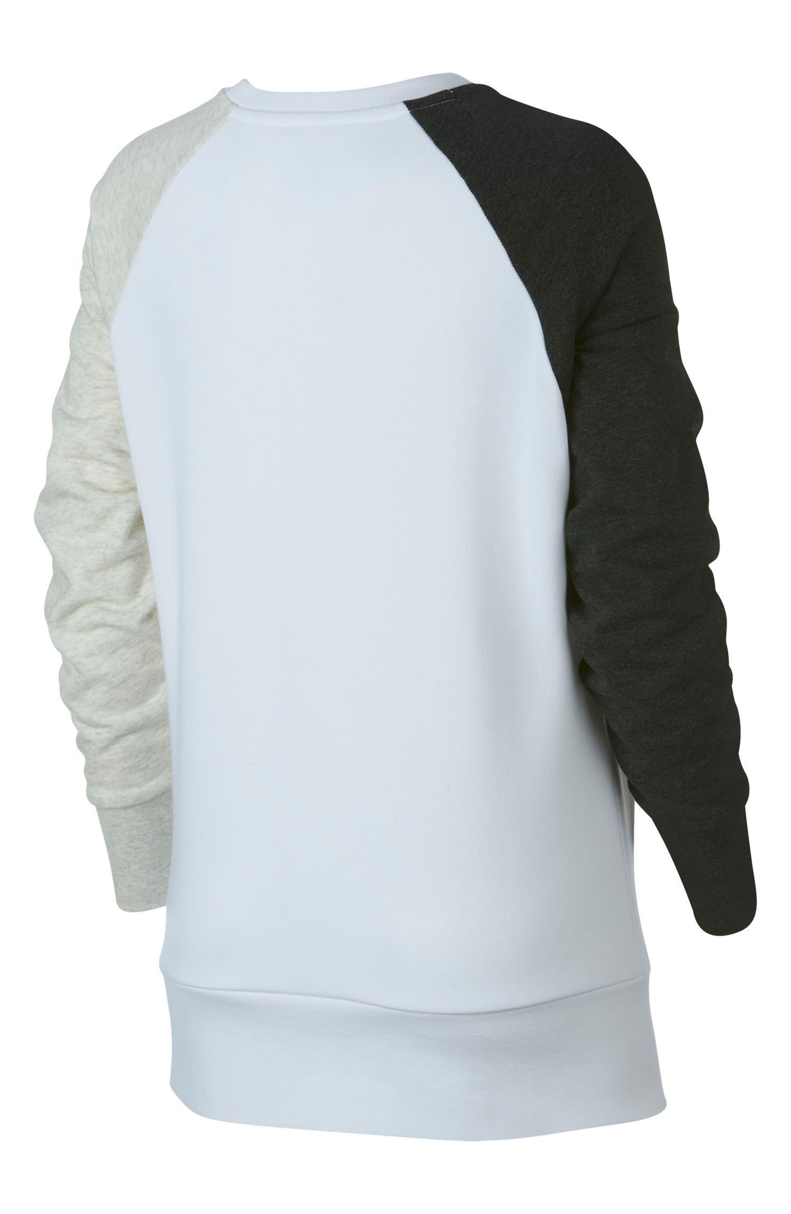 Dry Swoosh Sweatshirt,                             Alternate thumbnail 8, color,                             WHITE/ BLACK HEATHER/ WHITE