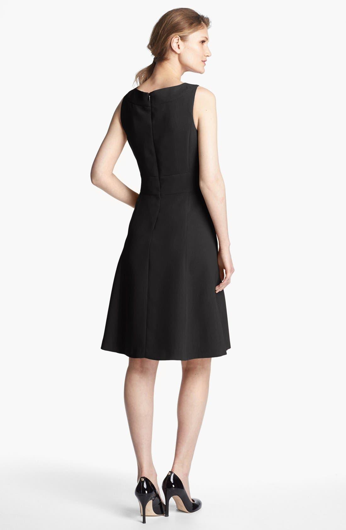Fit & Flare Dress,                             Alternate thumbnail 5, color,                             001
