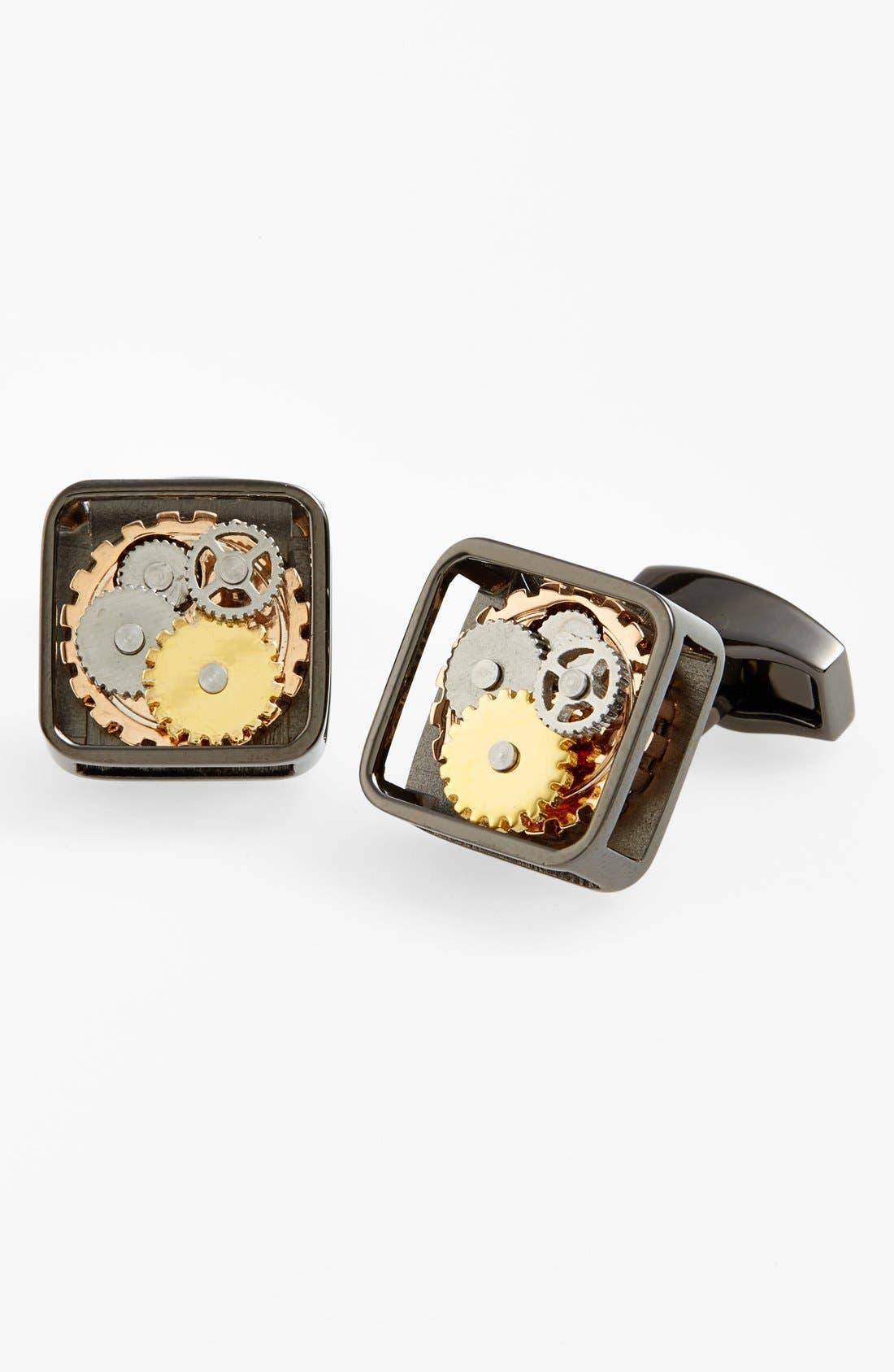 'Gear' Cuff Links,                         Main,                         color,