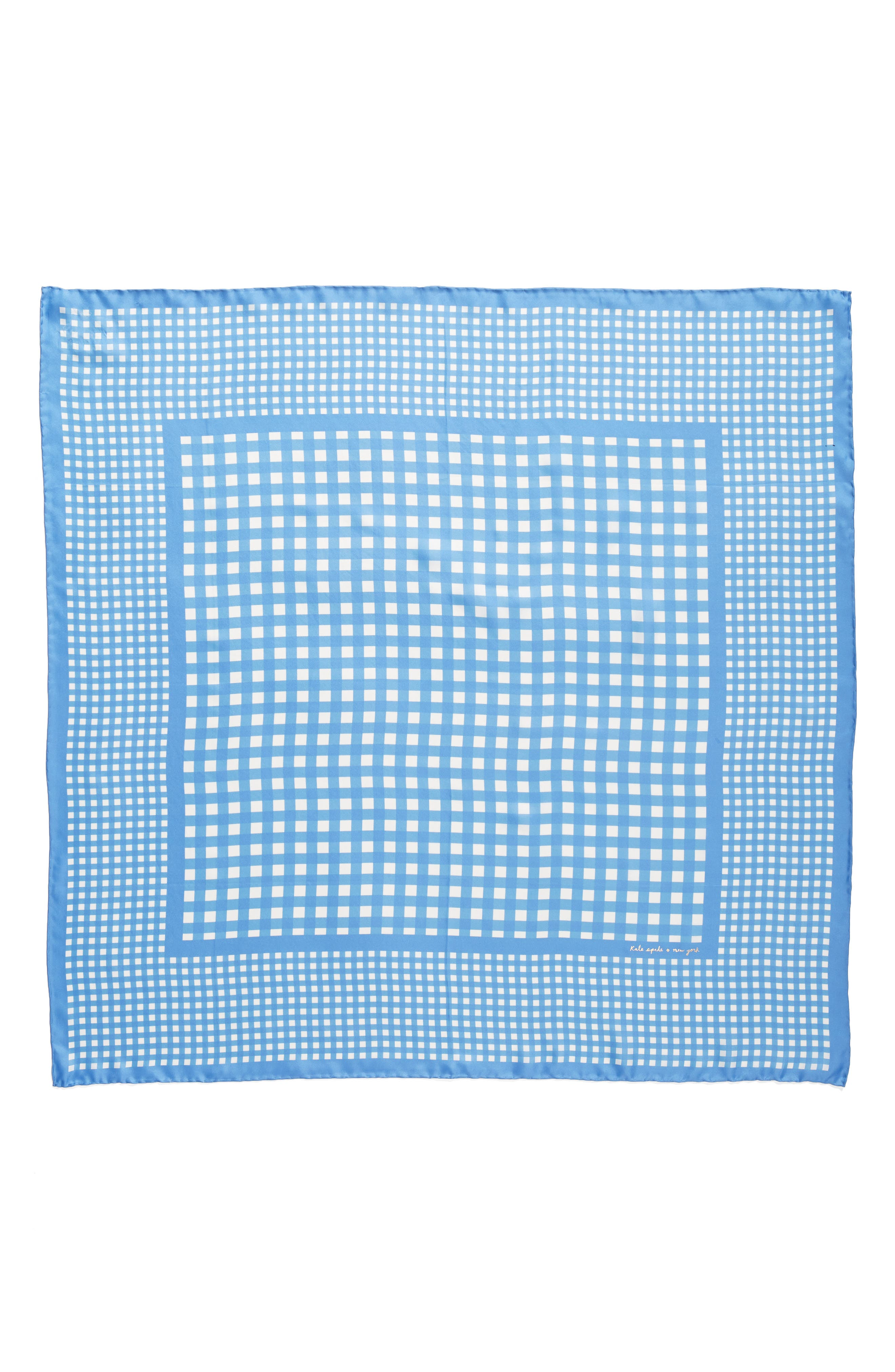 gingham square silk scarf,                             Alternate thumbnail 3, color,                             400