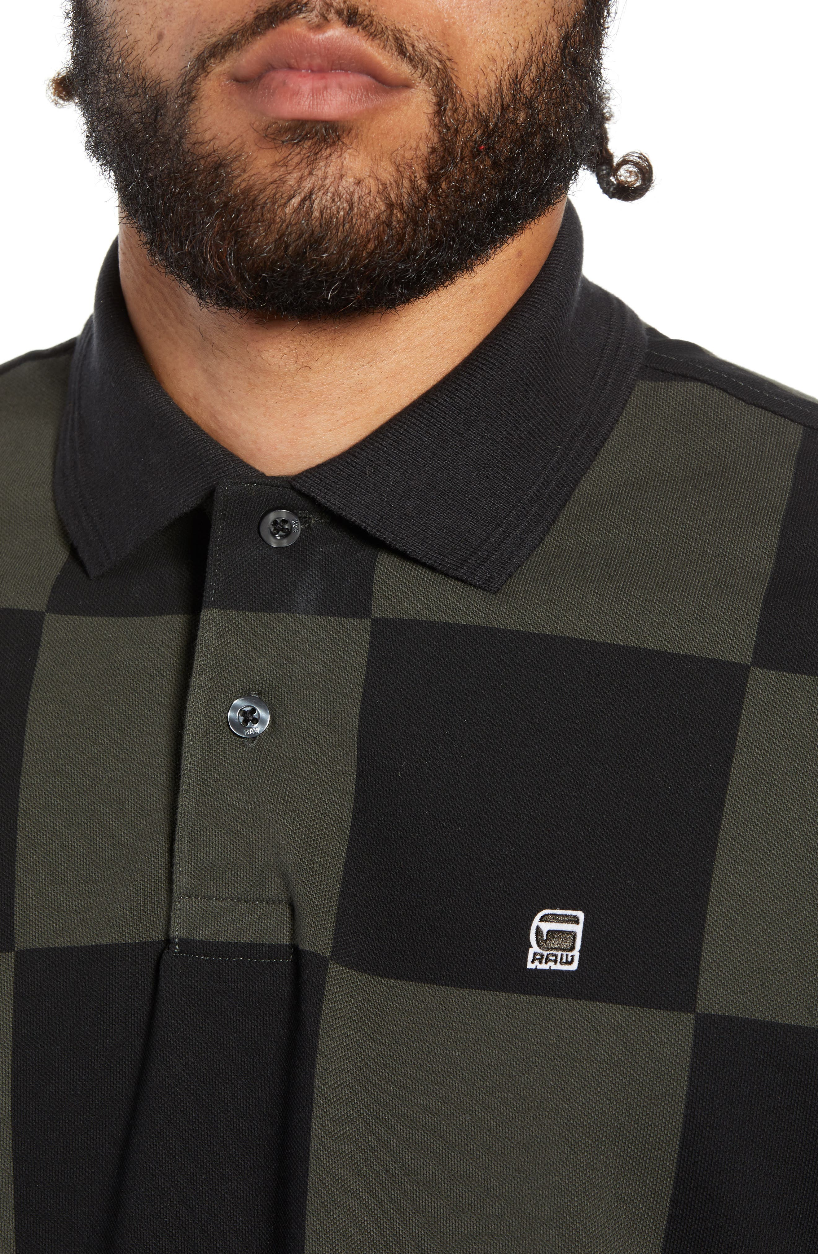 G-STAR RAW,                             Holliday Core Checker Piqué Polo,                             Alternate thumbnail 4, color,                             020