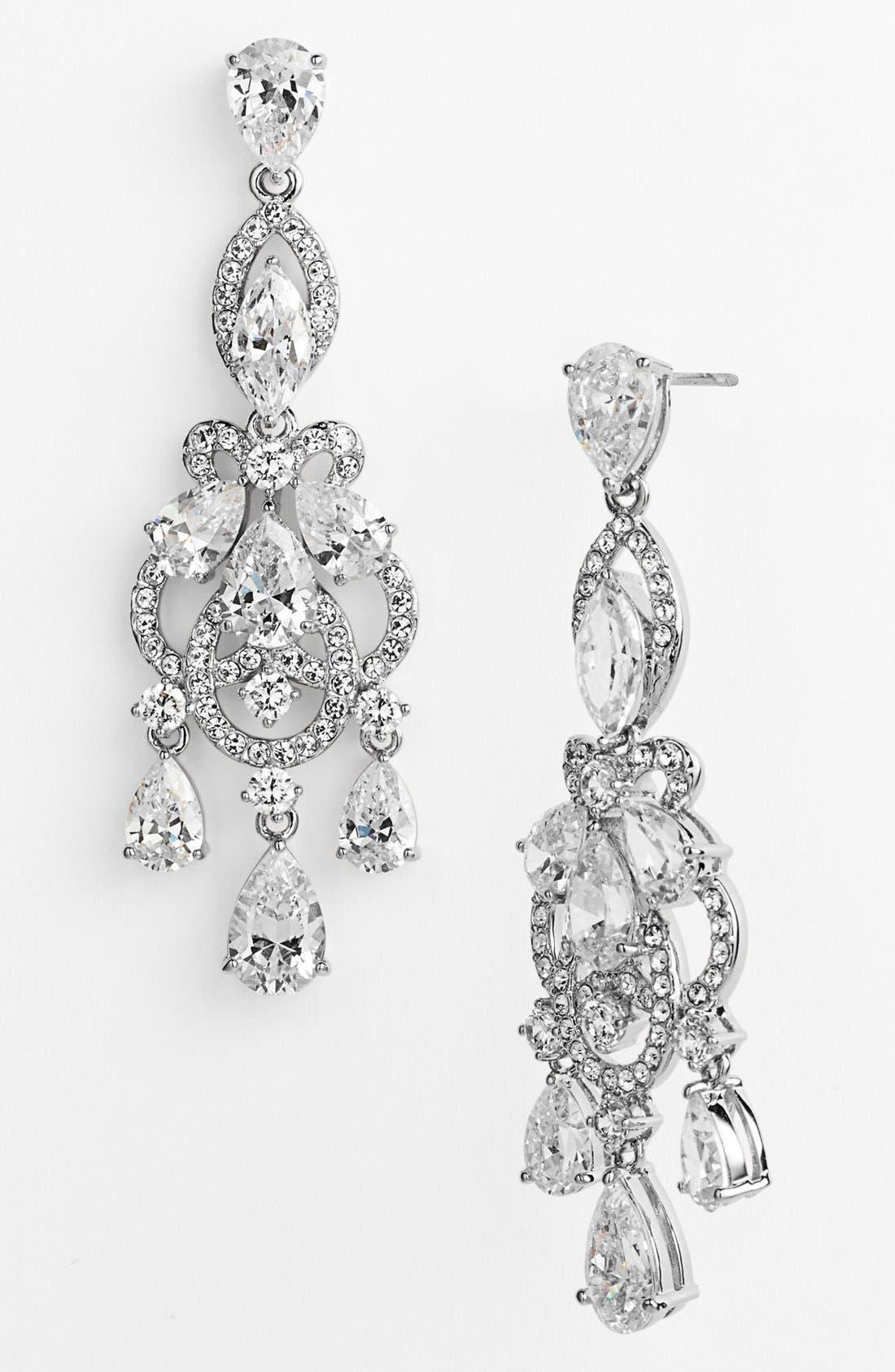 'Legacy' Crystal Chandelier Earrings,                             Main thumbnail 1, color,                             040