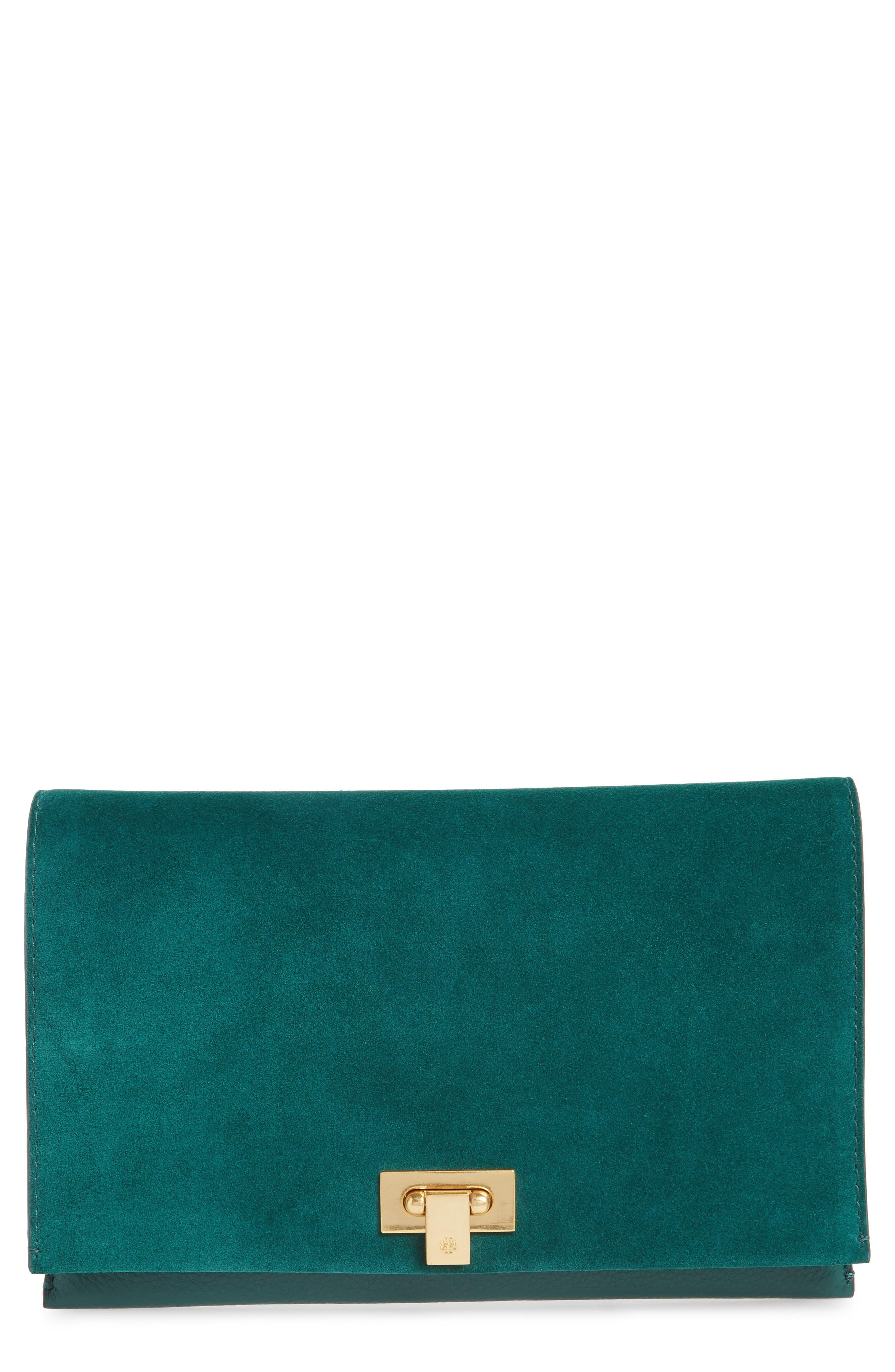 Carmen Leather Clutch,                         Main,                         color, 318