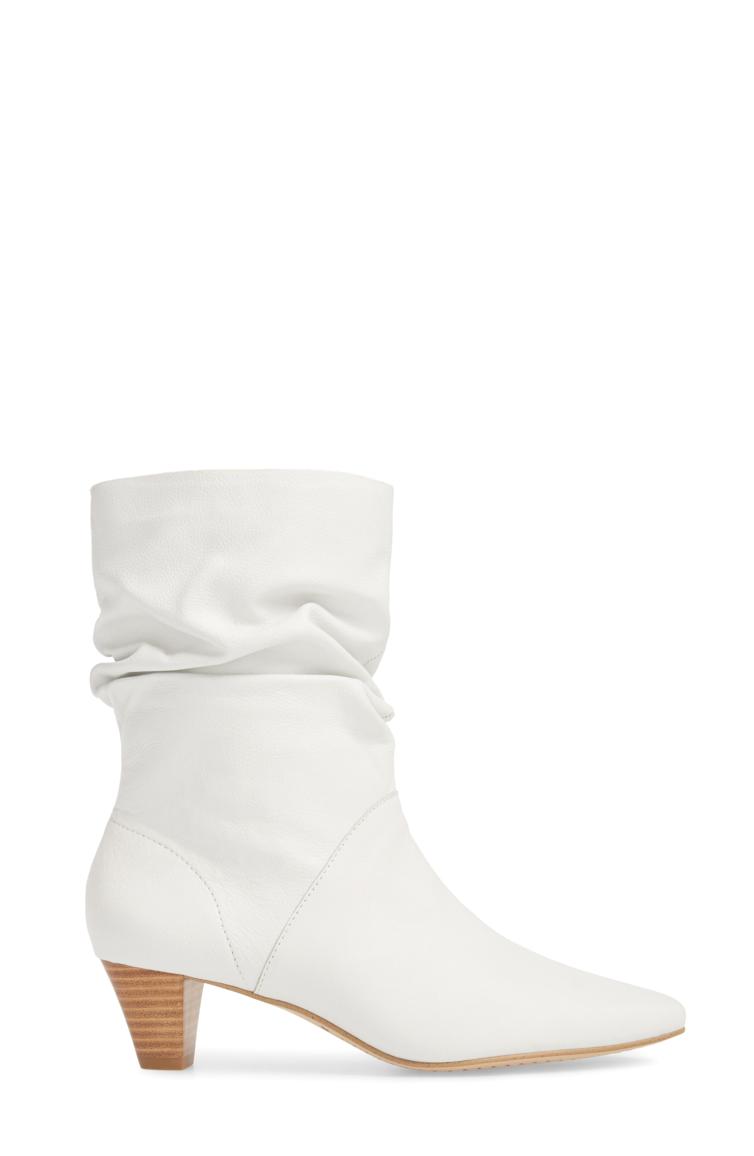 Nica Slouchy Boot,                             Alternate thumbnail 3, color,                             SNOW WHITE LEATHER