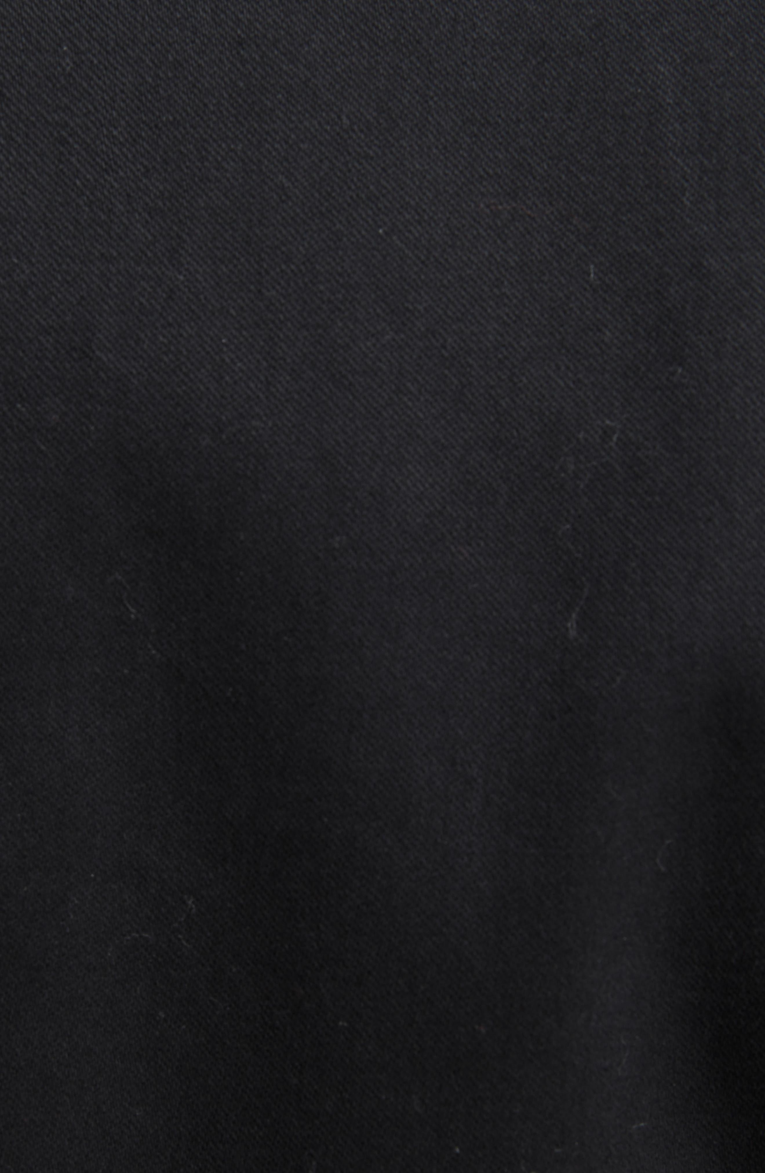 Lace Trim Pea Jacket,                             Alternate thumbnail 6, color,                             001