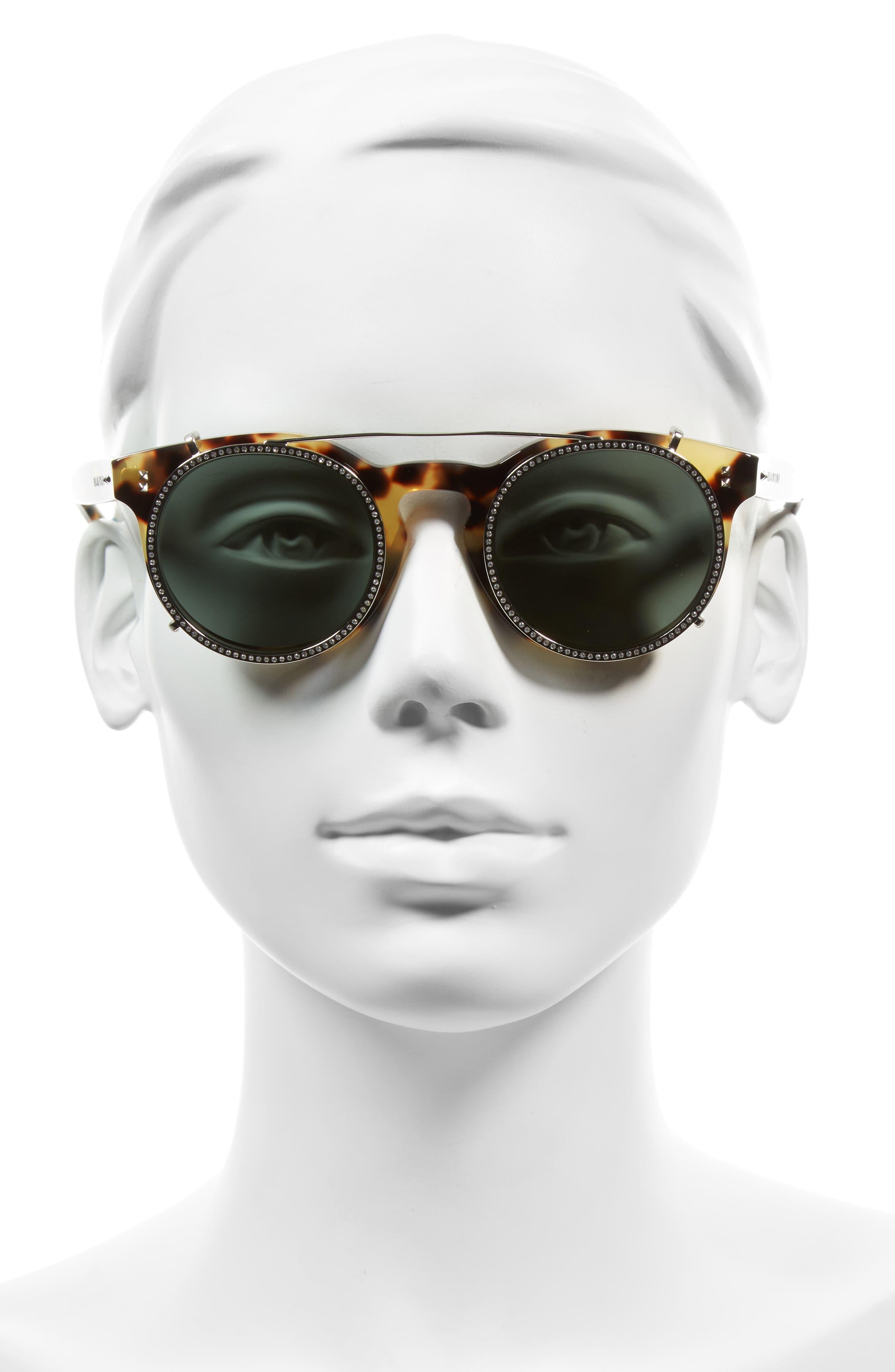 47mm Round Sunglasses,                             Alternate thumbnail 5, color,