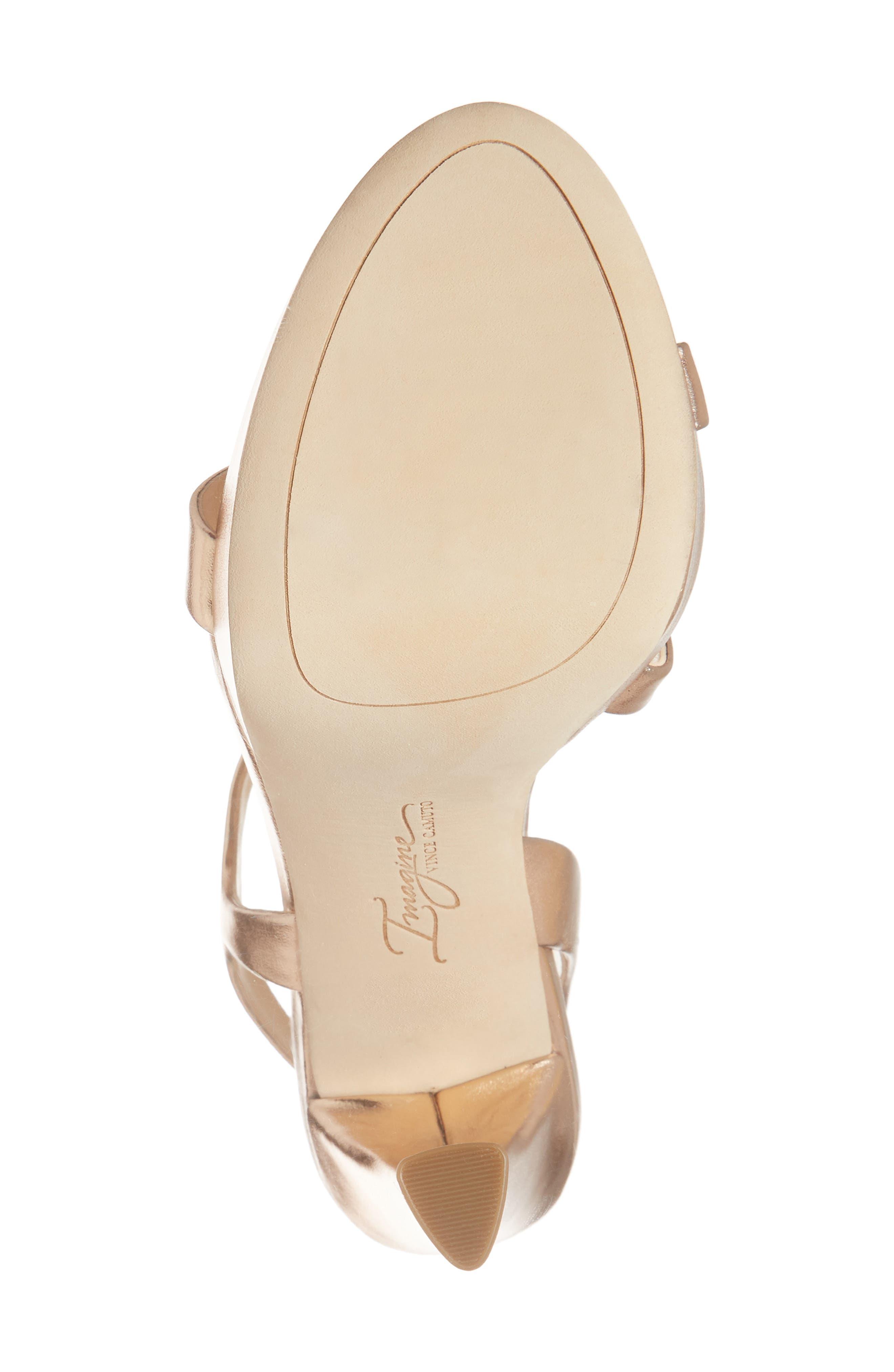 Piera Platform Sandal,                             Alternate thumbnail 6, color,                             ROSE GOLD LEATHER