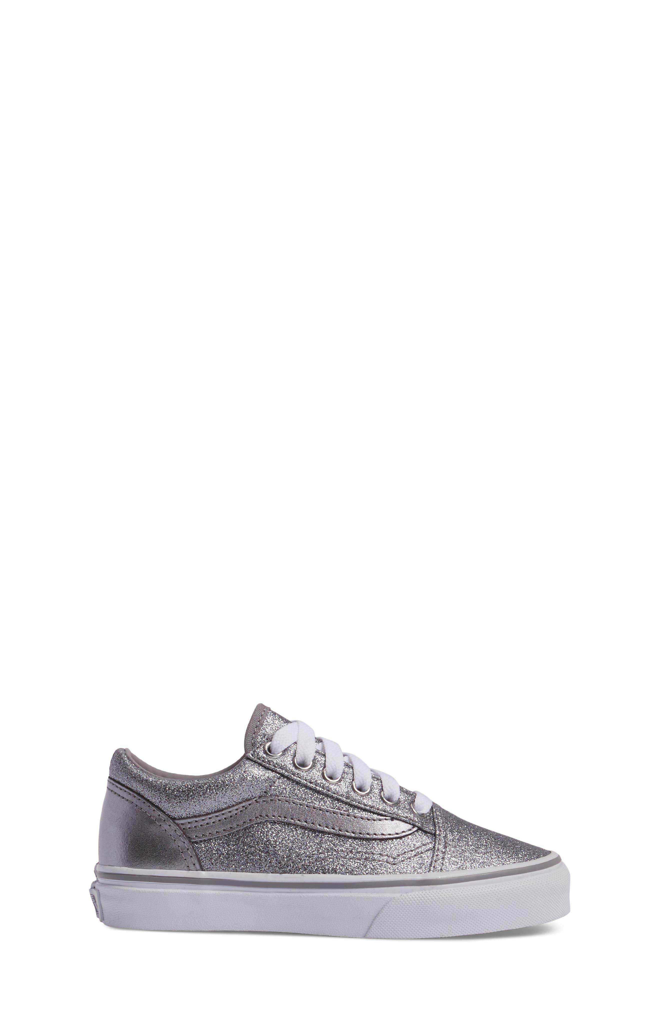 Old Skool Glitter Sneaker,                             Alternate thumbnail 3, color,                             040