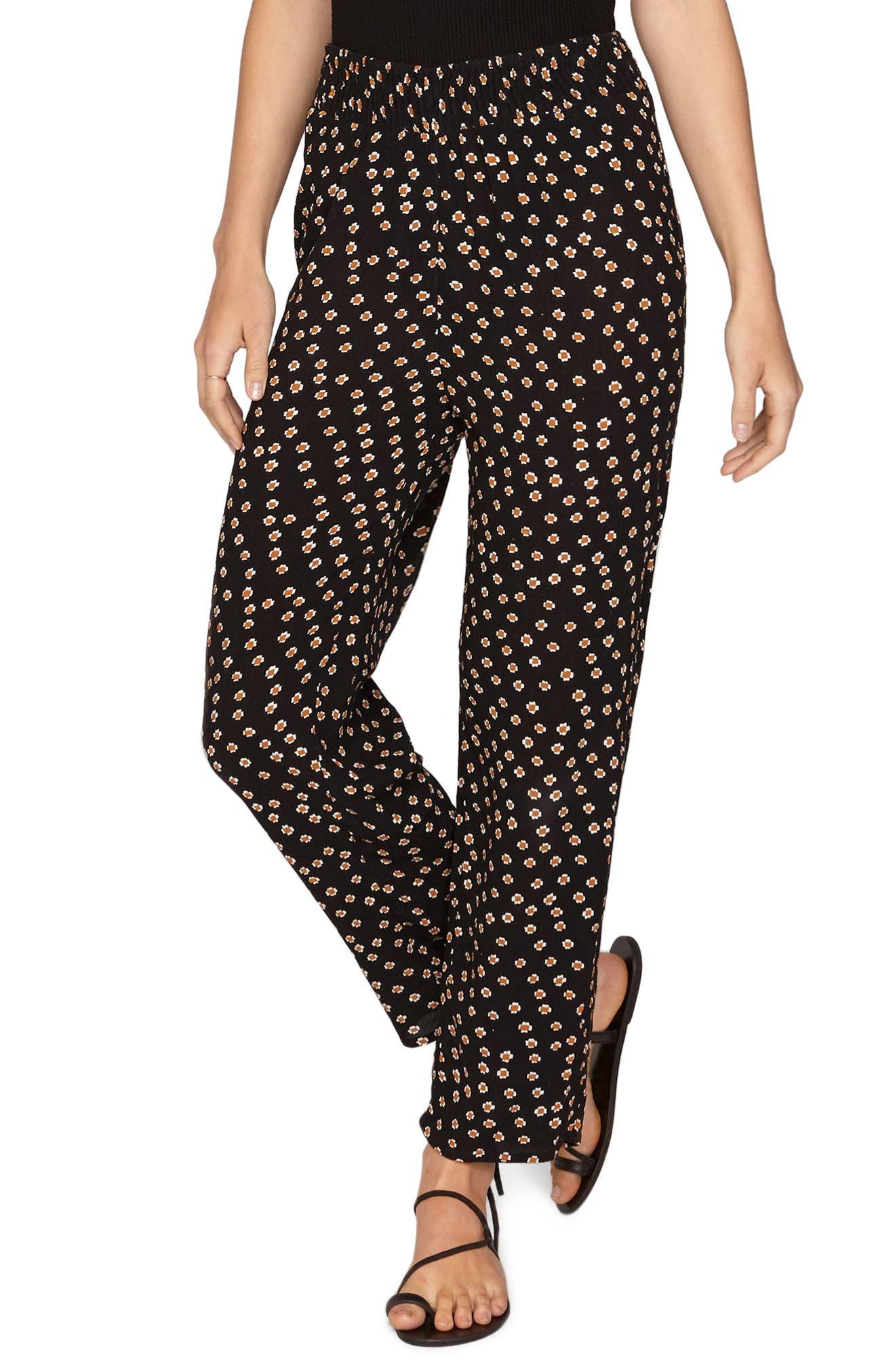 Sunset Stroll Pants,                         Main,                         color, BLACK SANDS