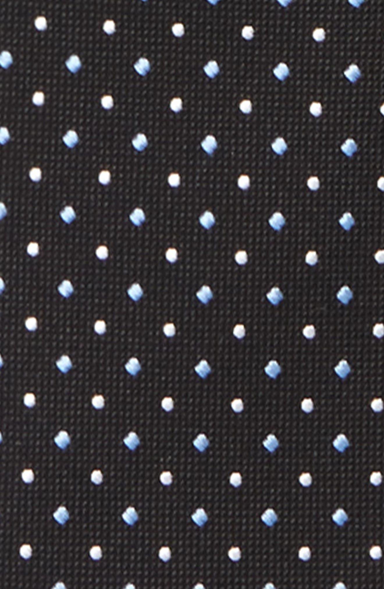 Dot Silk Zip Tie,                             Alternate thumbnail 6, color,