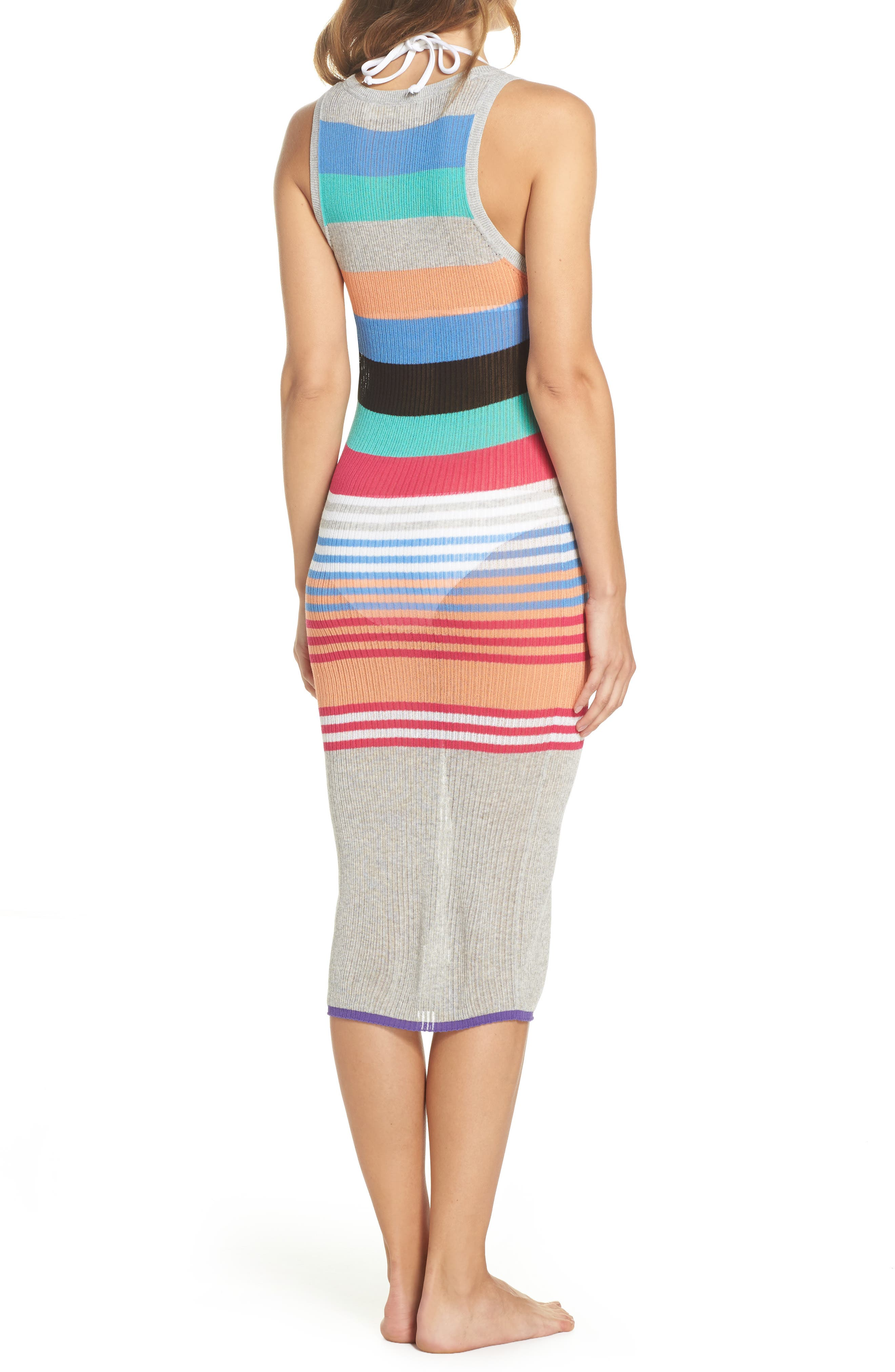 Knit Cover-Up Dress,                             Alternate thumbnail 2, color,                             001