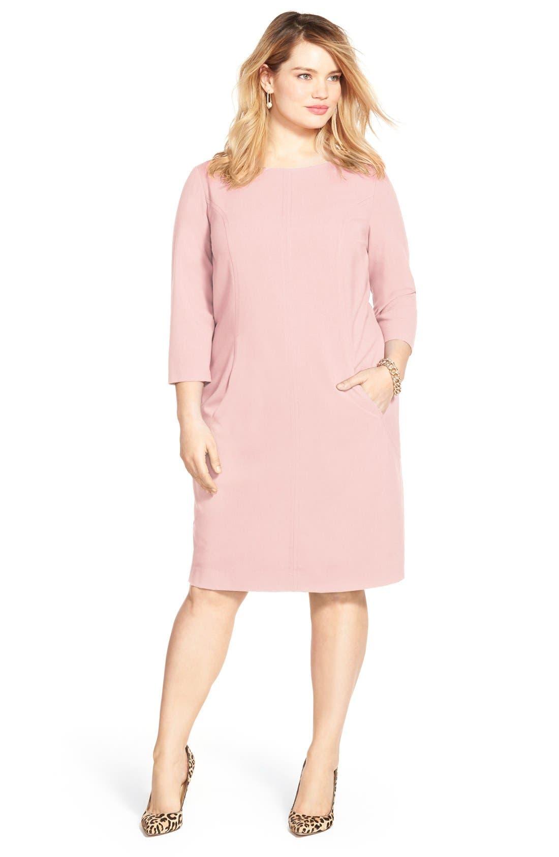 by Arthur S. Levine Seamed A-Line Dress,                             Alternate thumbnail 22, color,
