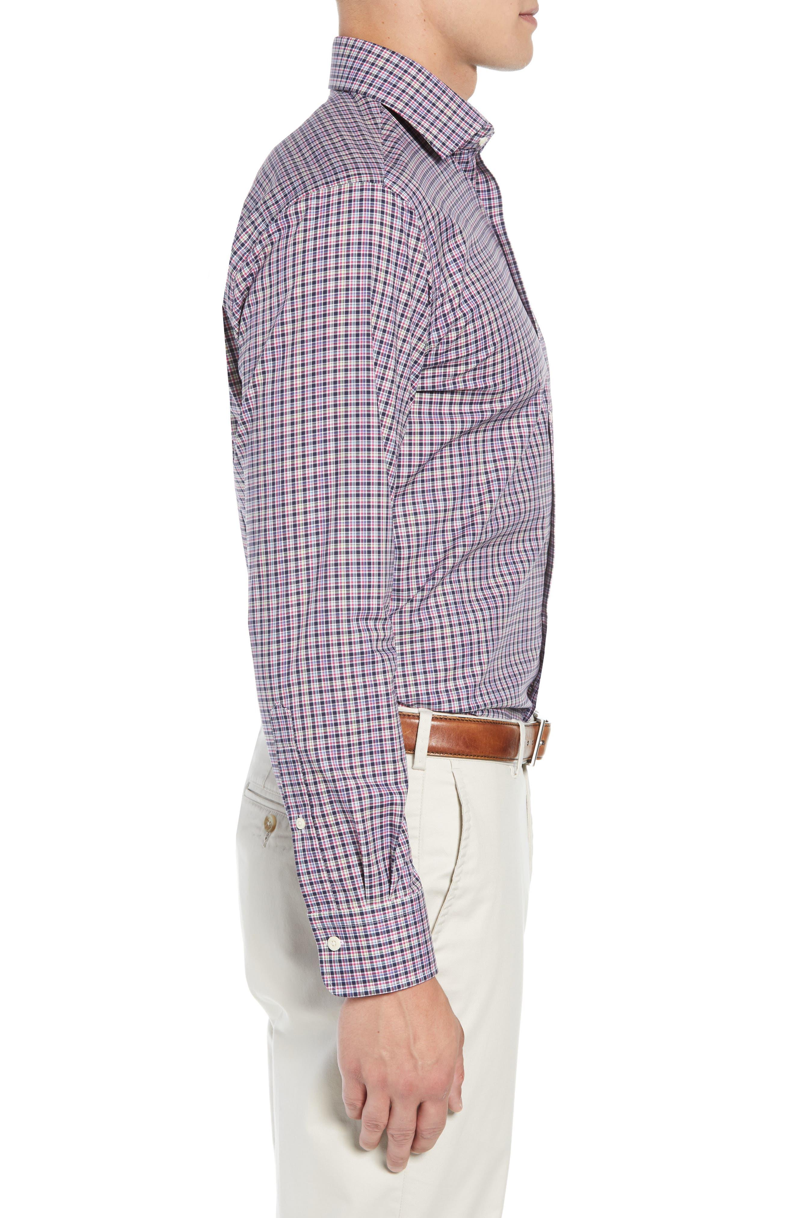 Crown Ease Triberg Regular Fit Check Sport Shirt,                             Alternate thumbnail 4, color,                             BLUE