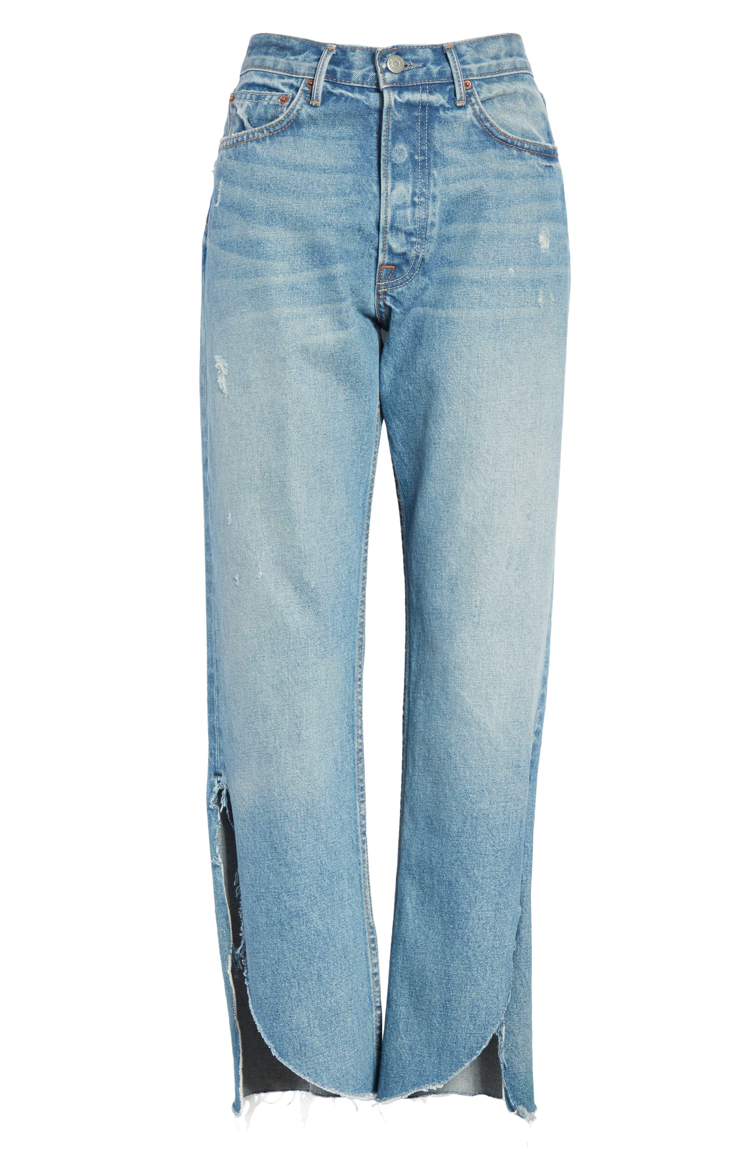 Maran Wide Leg Crop Jeans,                             Alternate thumbnail 6, color,                             483