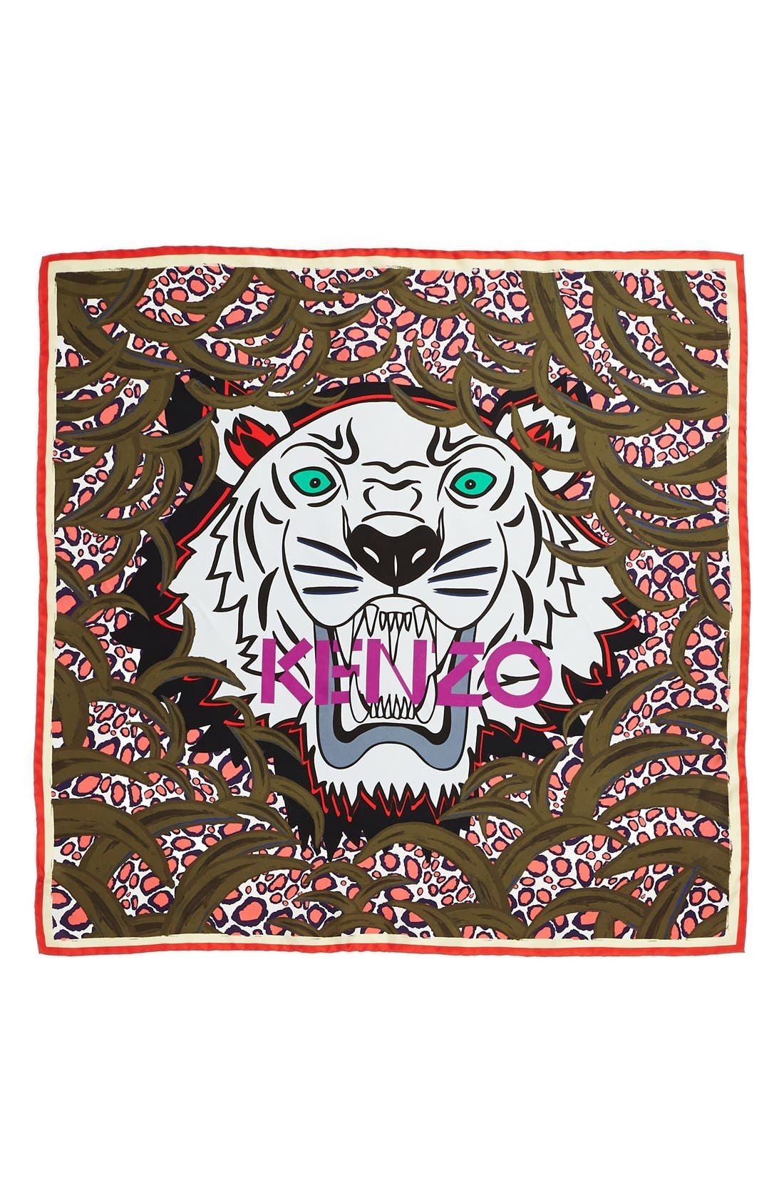 KENZO,                             'New Tiger Head' Scarf,                             Alternate thumbnail 3, color,                             300