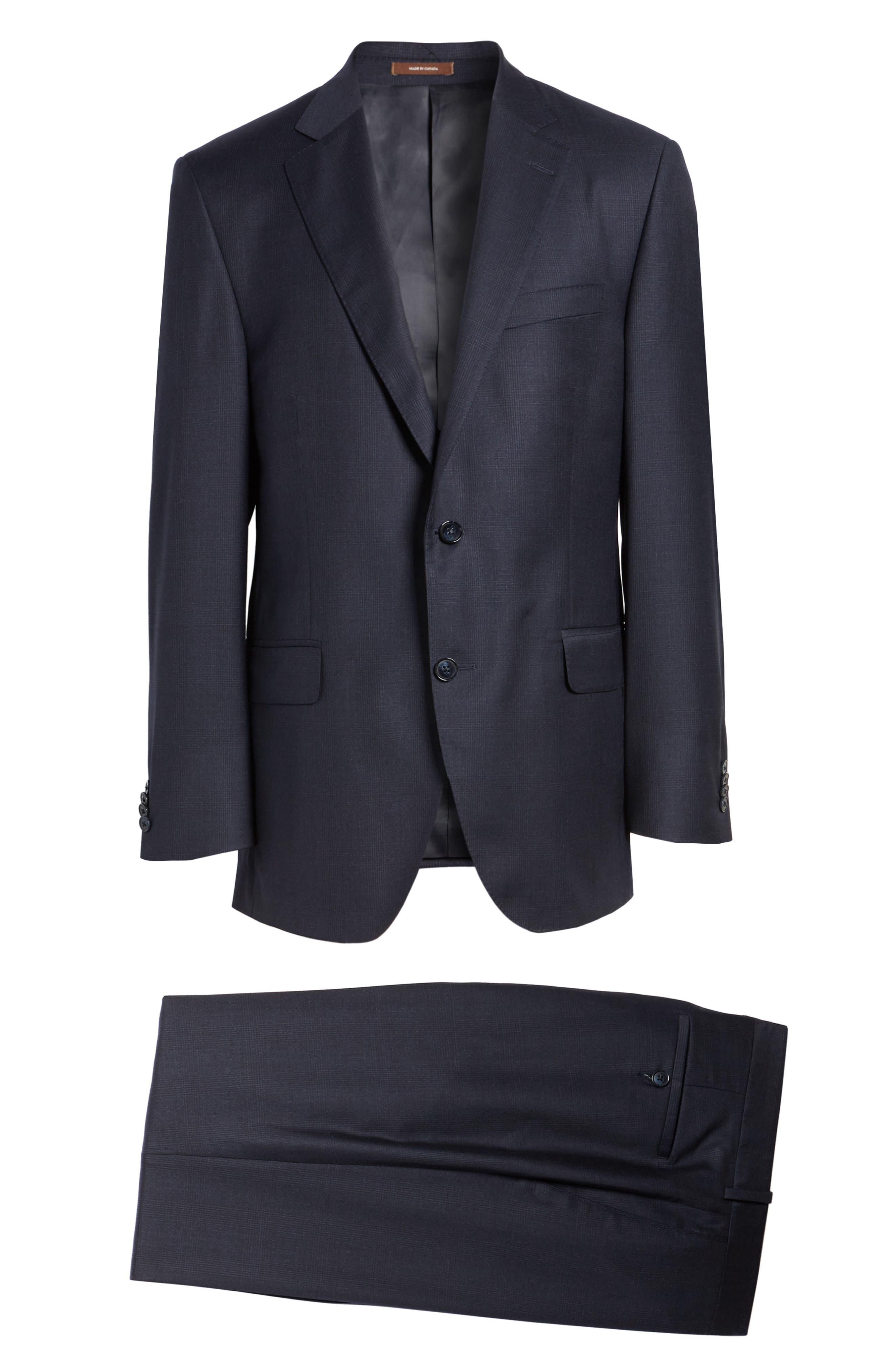 Flynn Classic Fit Plaid Wool Suit,                             Alternate thumbnail 8, color,                             410