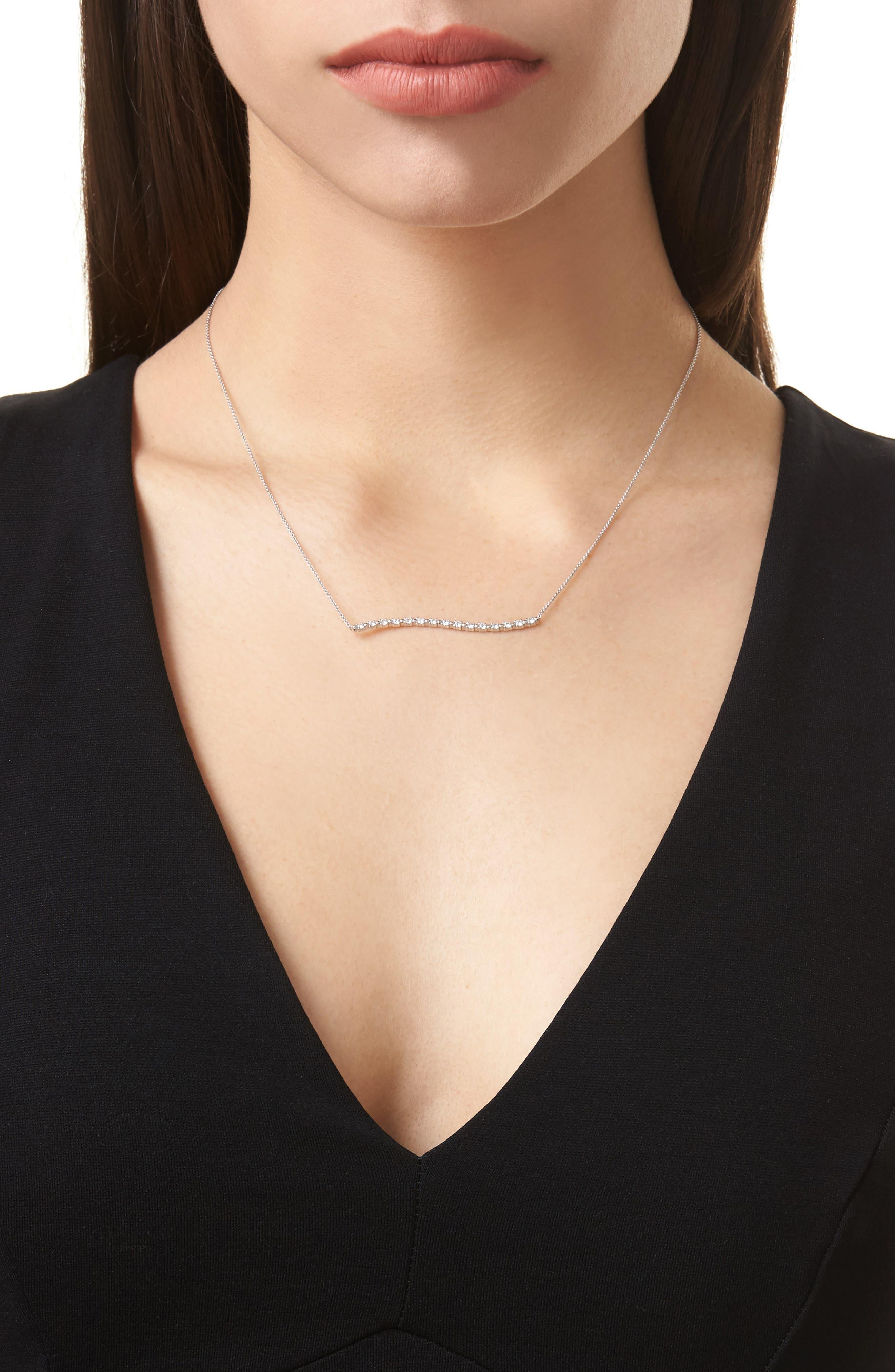 Wavy Bar Diamond Pendant Necklace,                             Alternate thumbnail 2, color,                             711