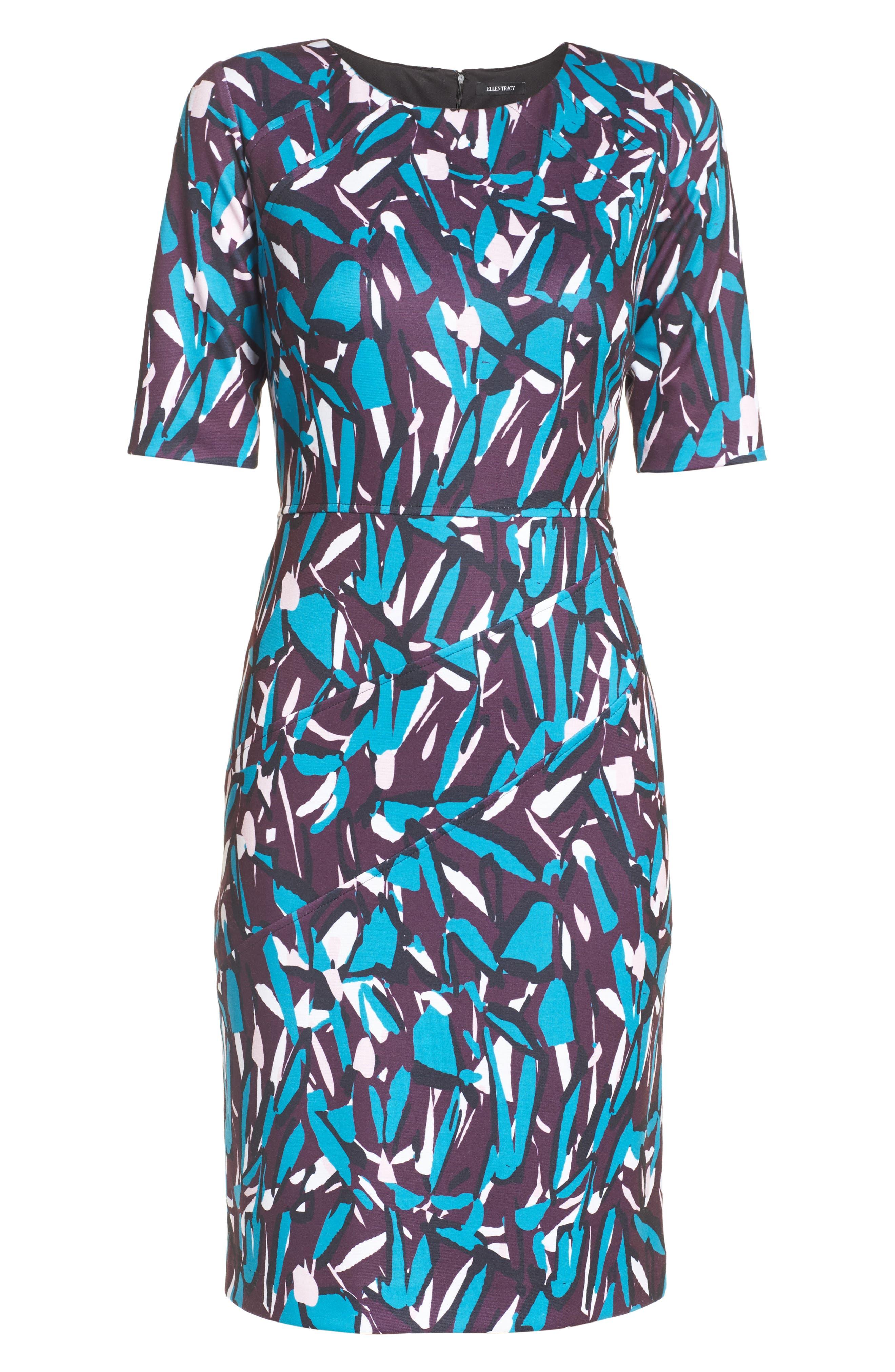 Ponte Pencil Dress,                             Alternate thumbnail 7, color,                             553