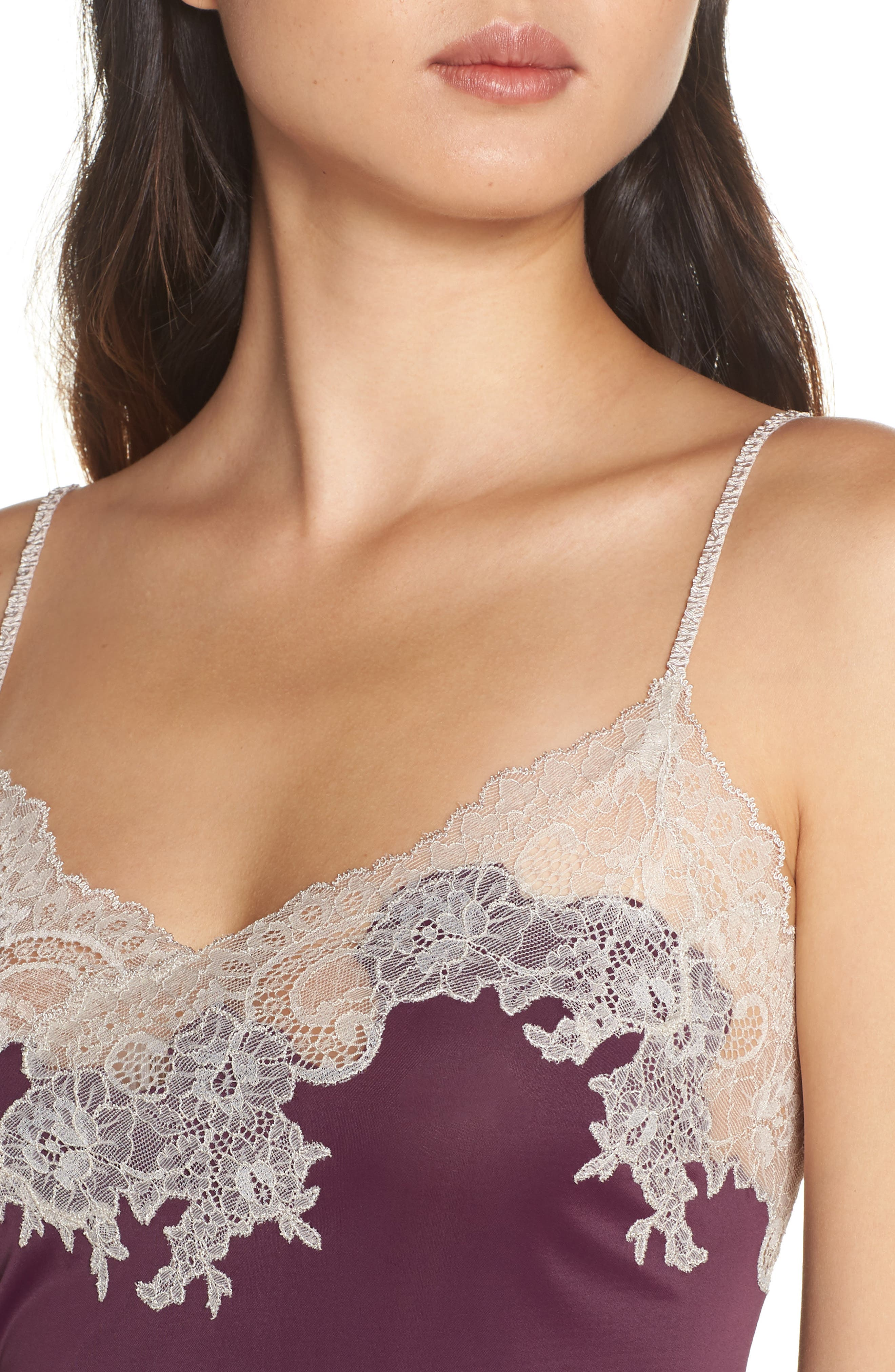 'Enchant' Chemise,                             Alternate thumbnail 4, color,                             PURPLE COCOON