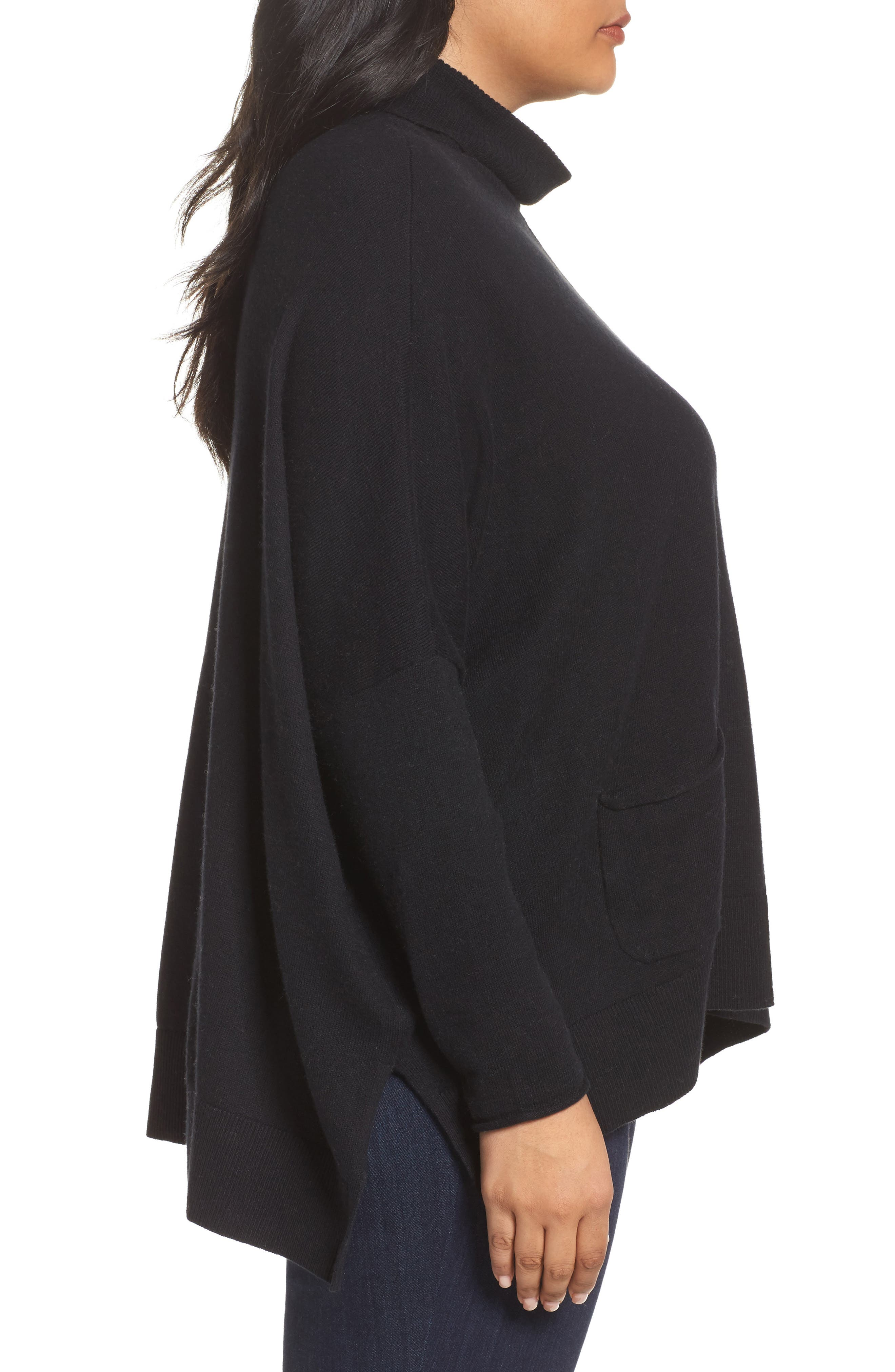Relaxed Cotton & Cashmere Sweater,                             Alternate thumbnail 9, color,