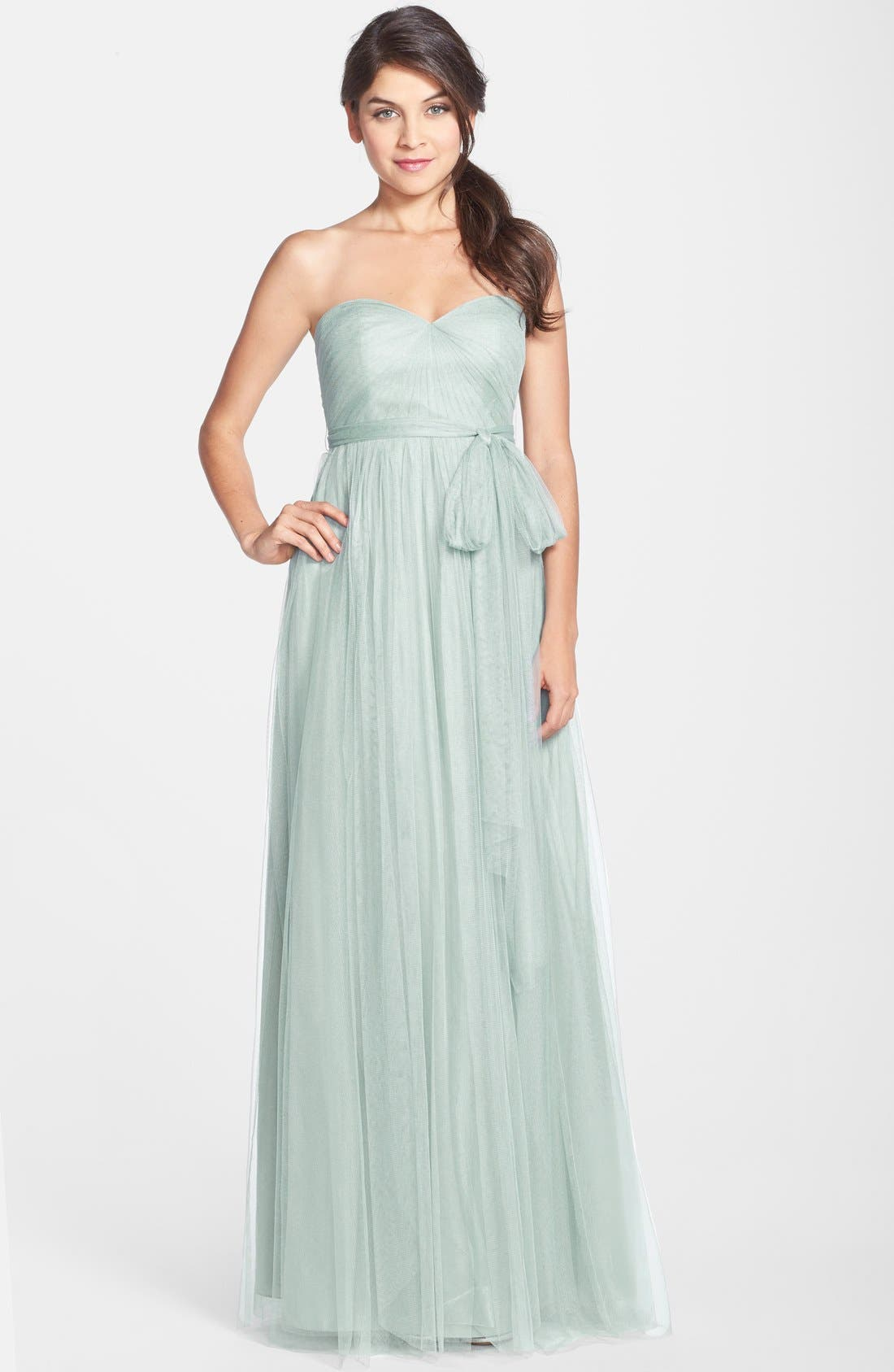 Jenny Yoo Annabelle Convertible Tulle Column Dress, 8 (similar to 1) - Blue