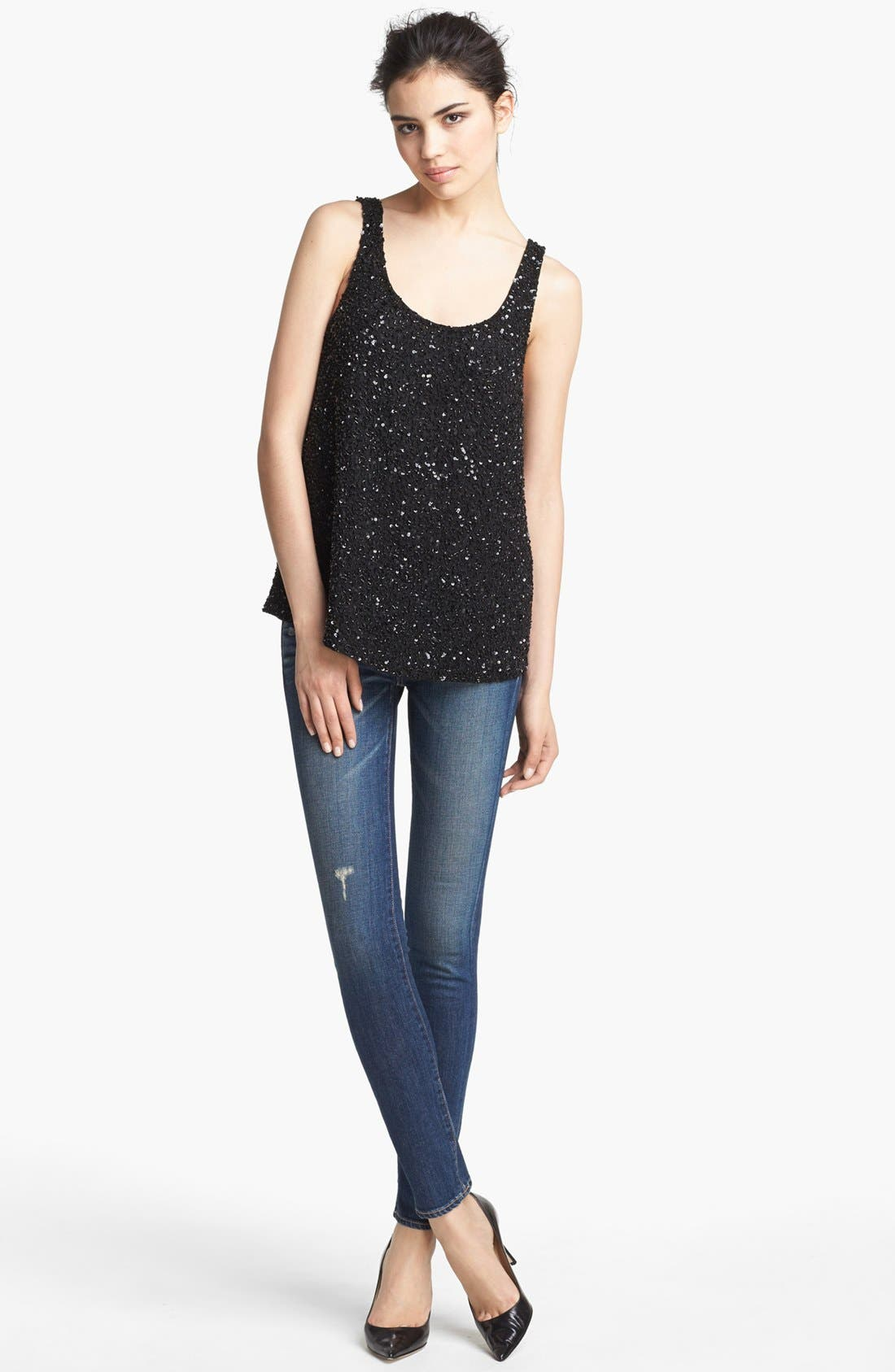 'Junk' Sequin Tank,                             Alternate thumbnail 2, color,                             001