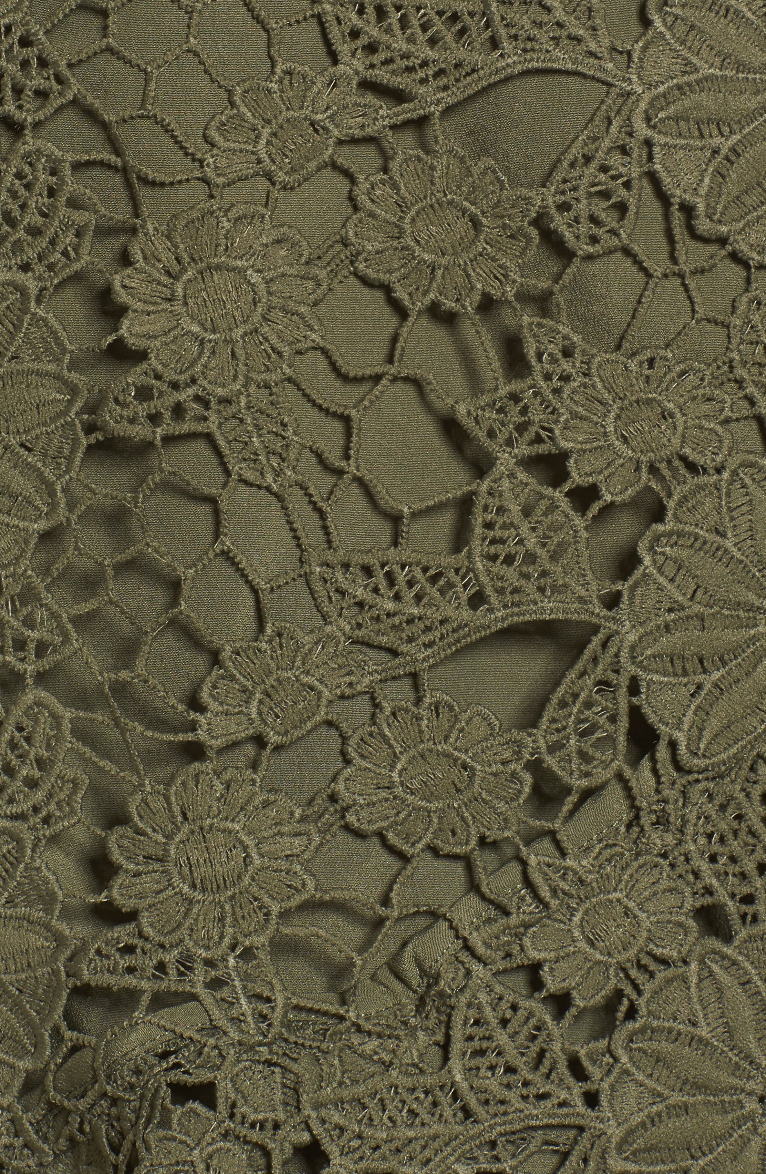 Frameless Lace Sheath Dress,                             Alternate thumbnail 5, color,                             300