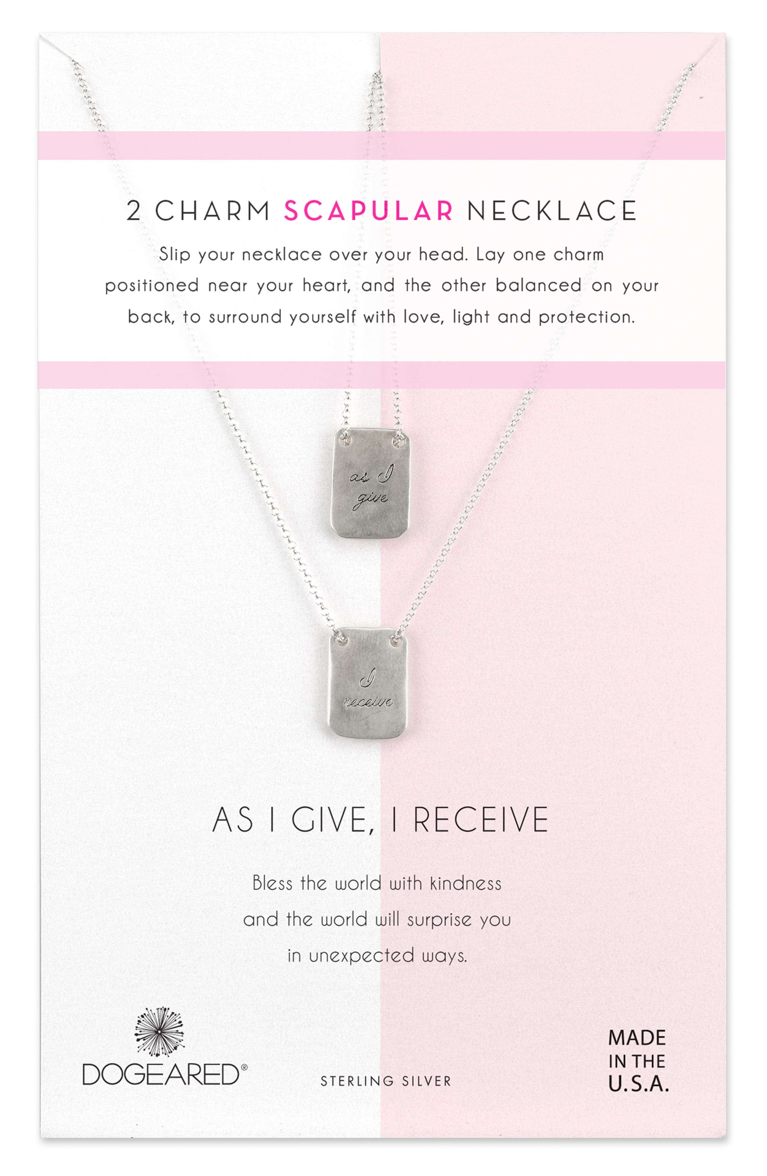 DOGEARED As I Give I Receive Layered Necklace, Main, color, 040