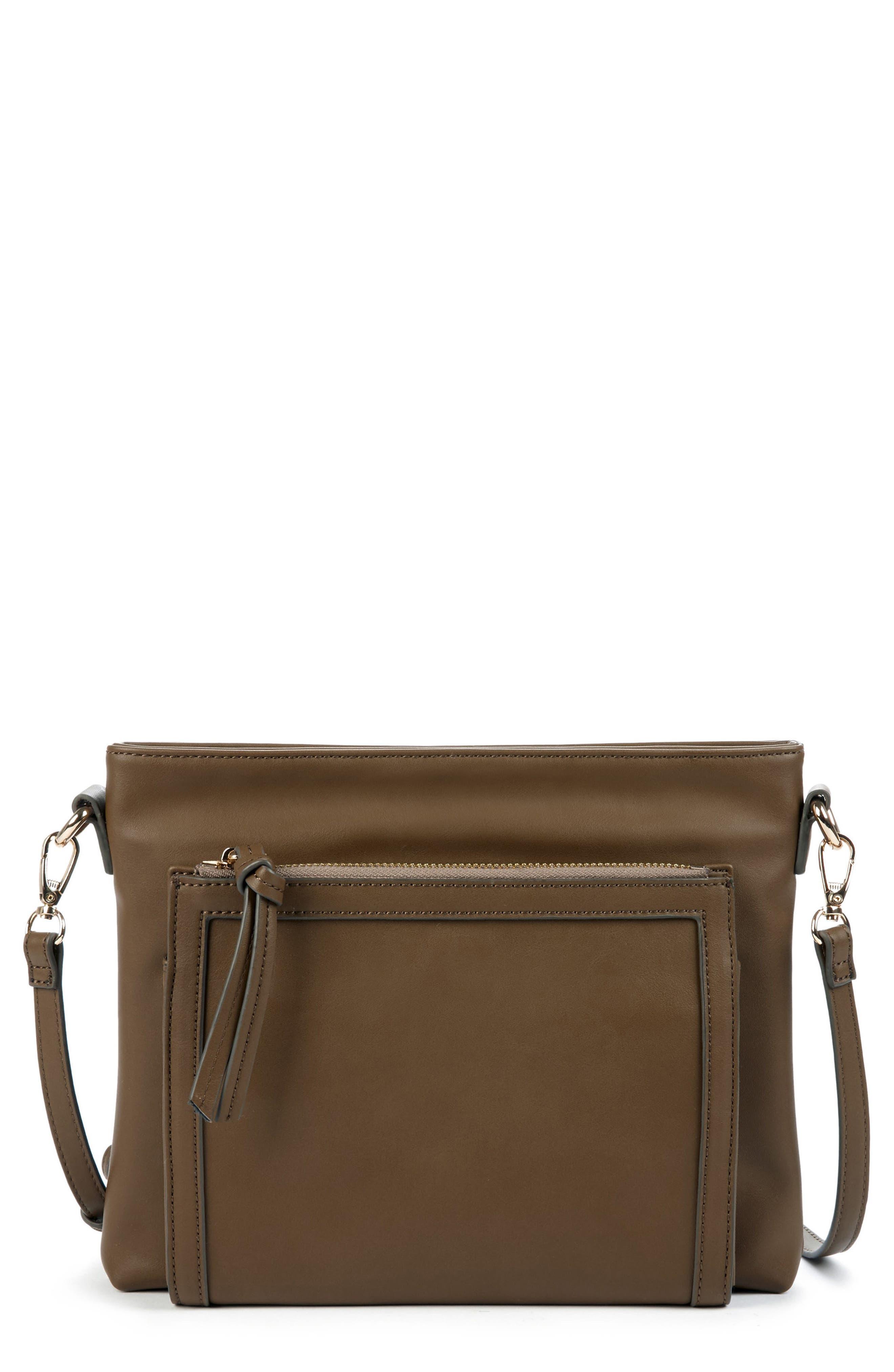 Flat Faux Leather Crossbody Bag,                             Main thumbnail 2, color,