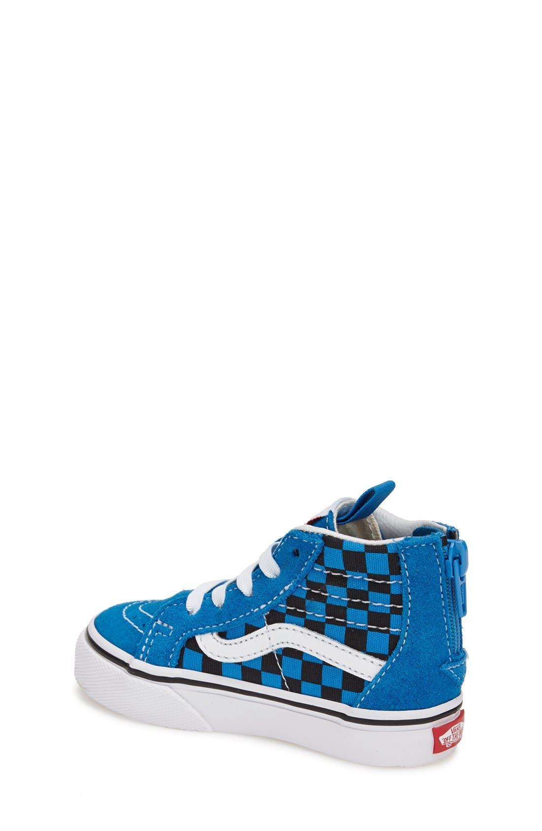 'Sk8-Hi' Zip Sneaker,                             Alternate thumbnail 9, color,