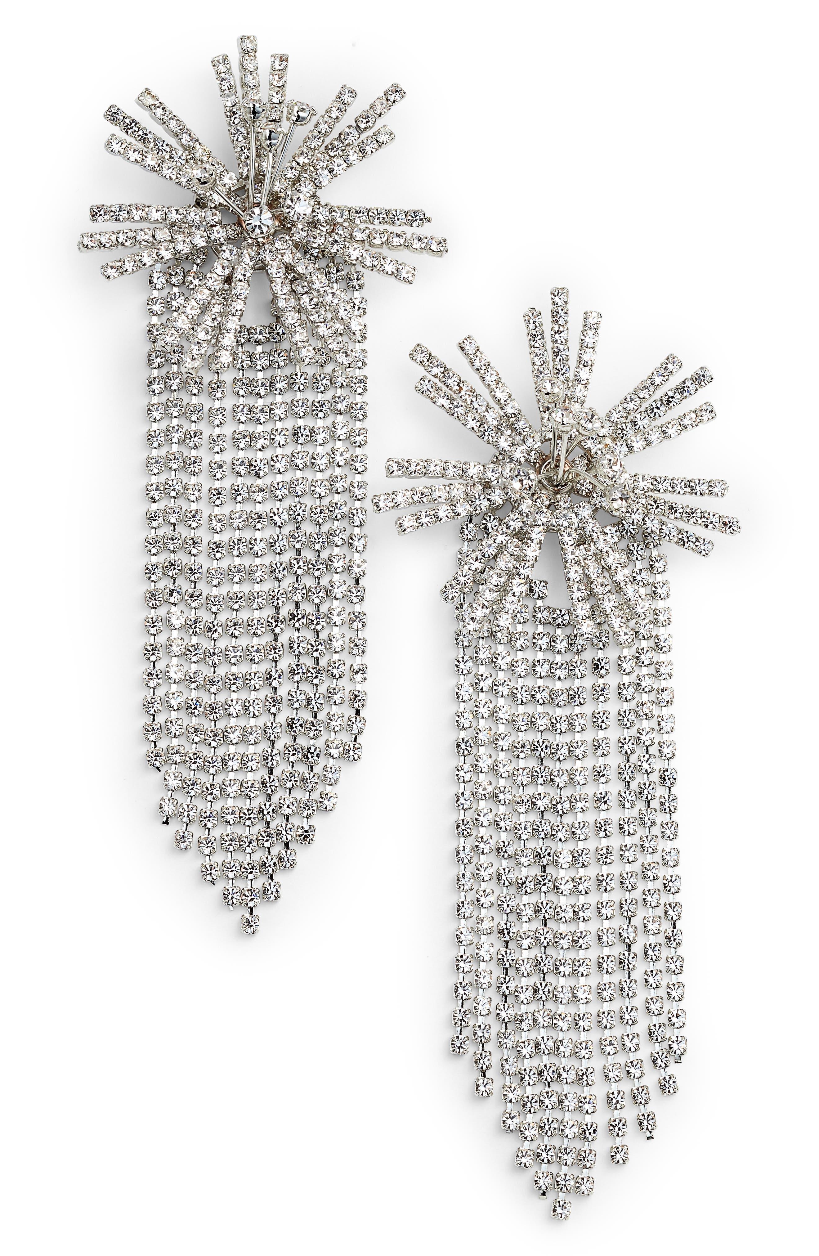 CRISTABELLE Starburst Fringe Earrings, Main, color, 040