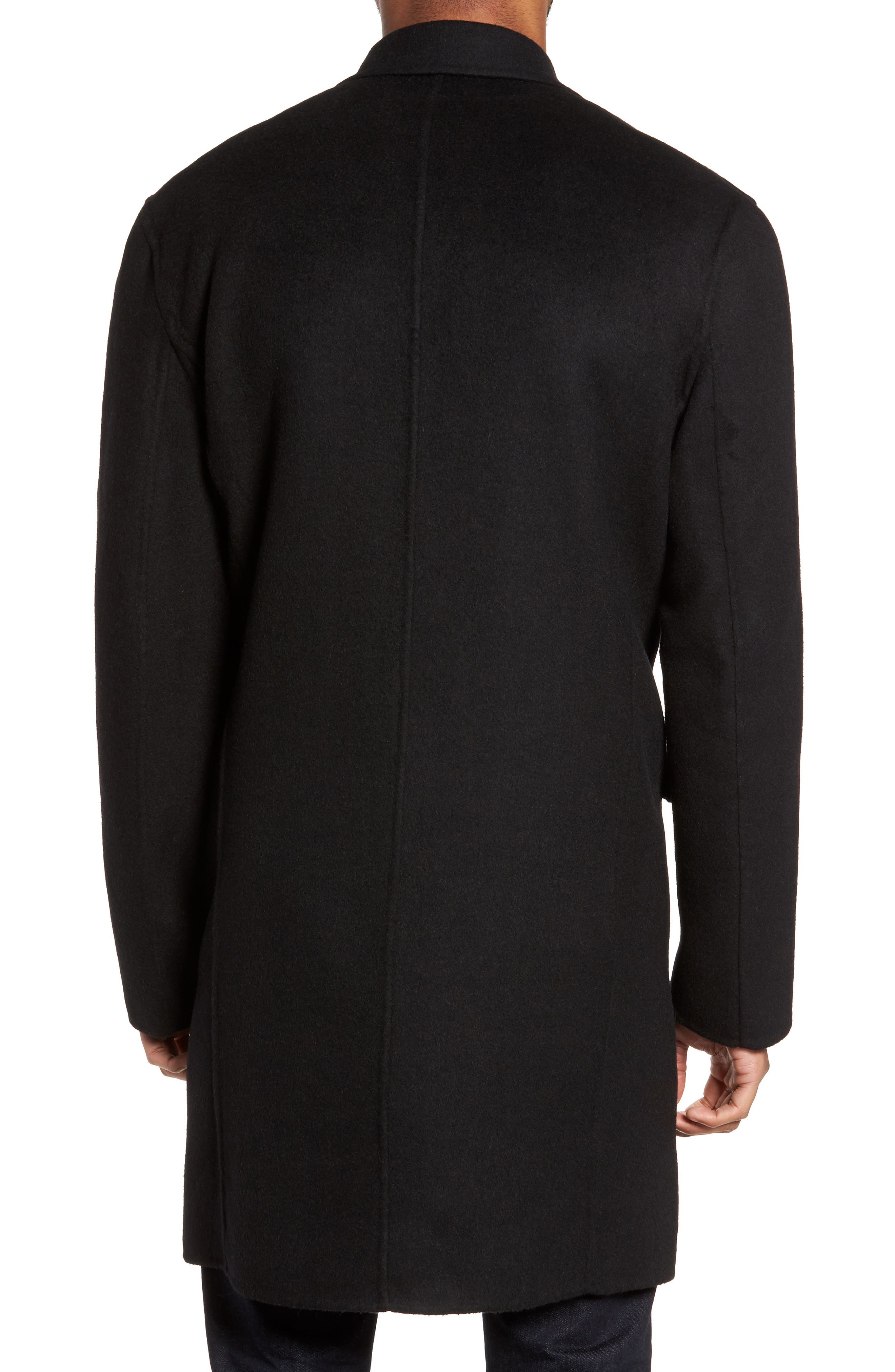 Wool Blend Topcoat,                             Alternate thumbnail 2, color,                             BLACK