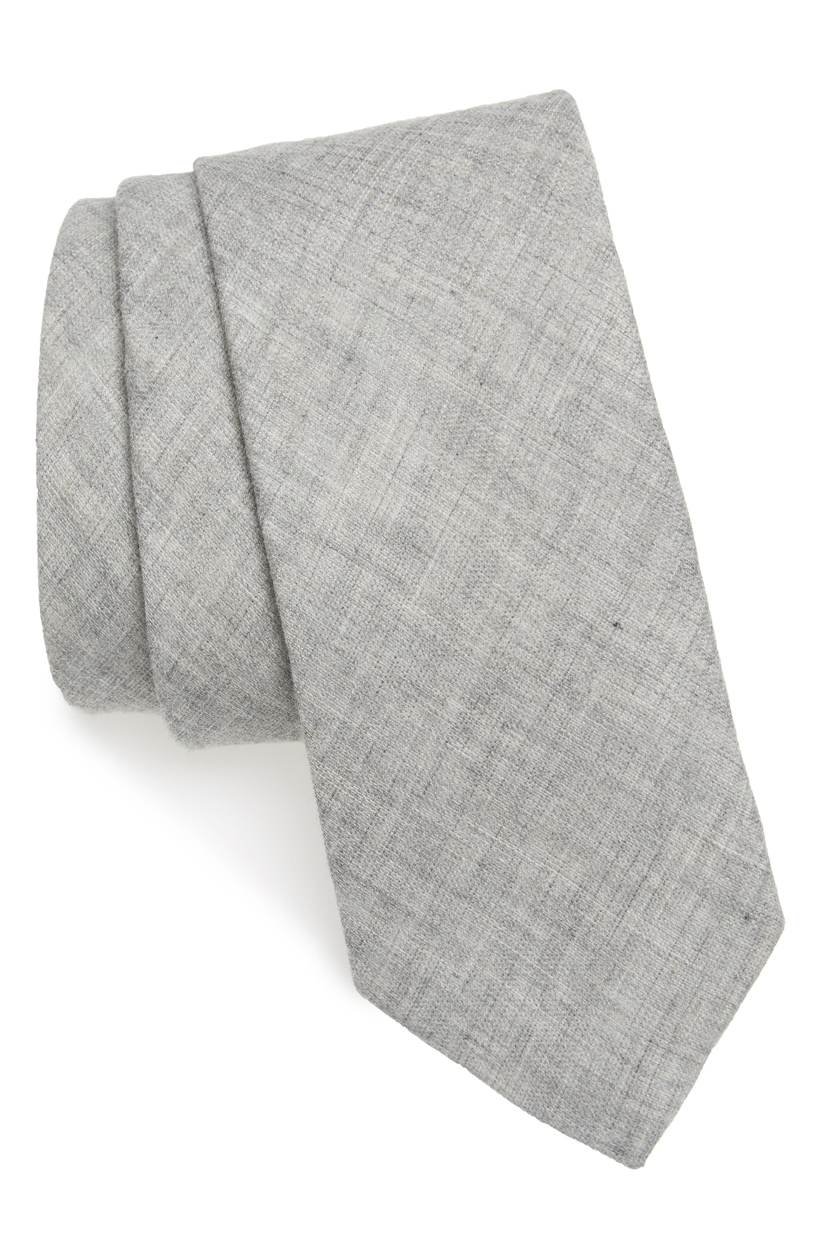 Bedell Solid Cotton Tie,                             Main thumbnail 2, color,