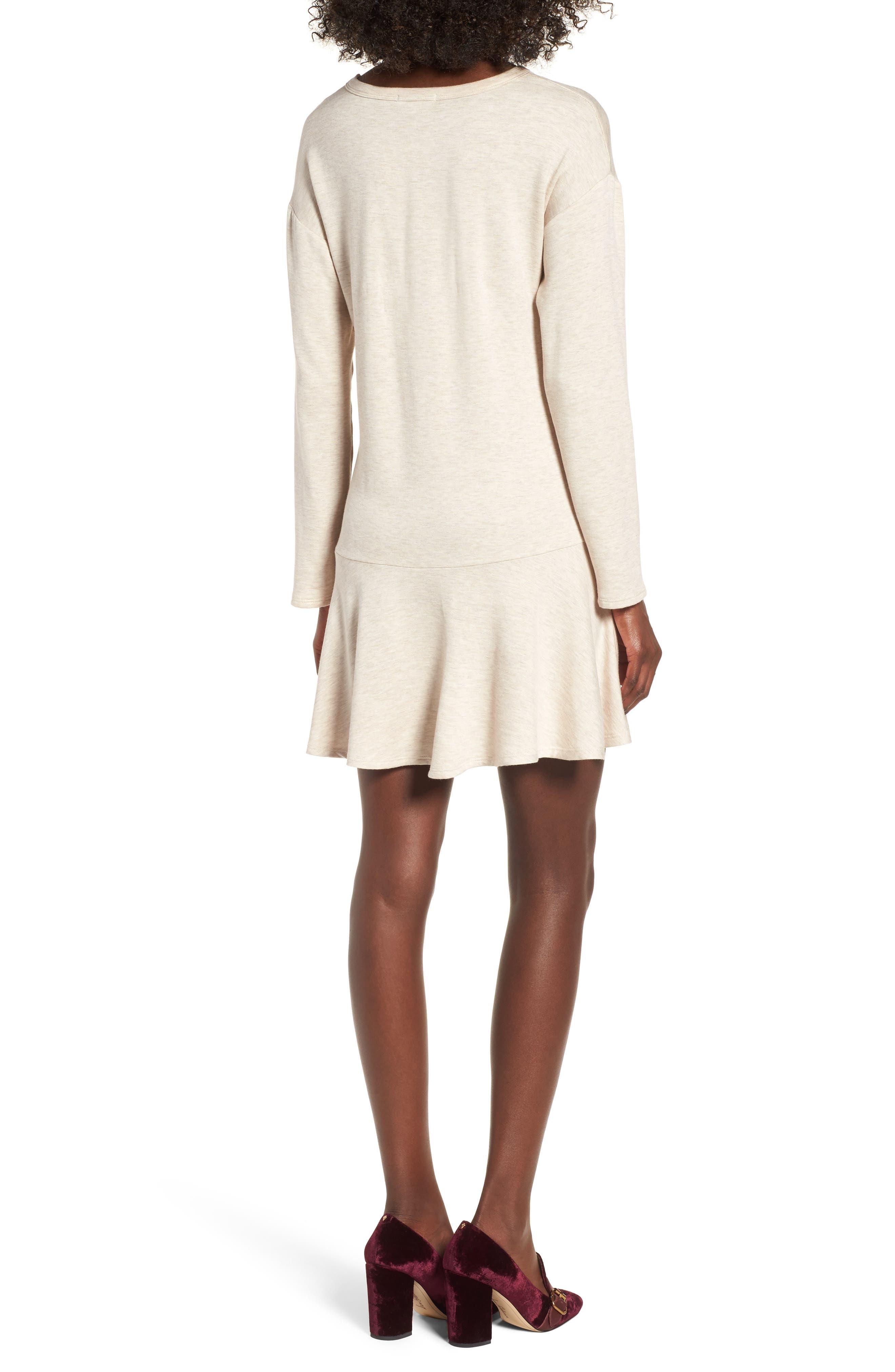 Drop Waist Sweatshirt Dress,                             Alternate thumbnail 6, color,