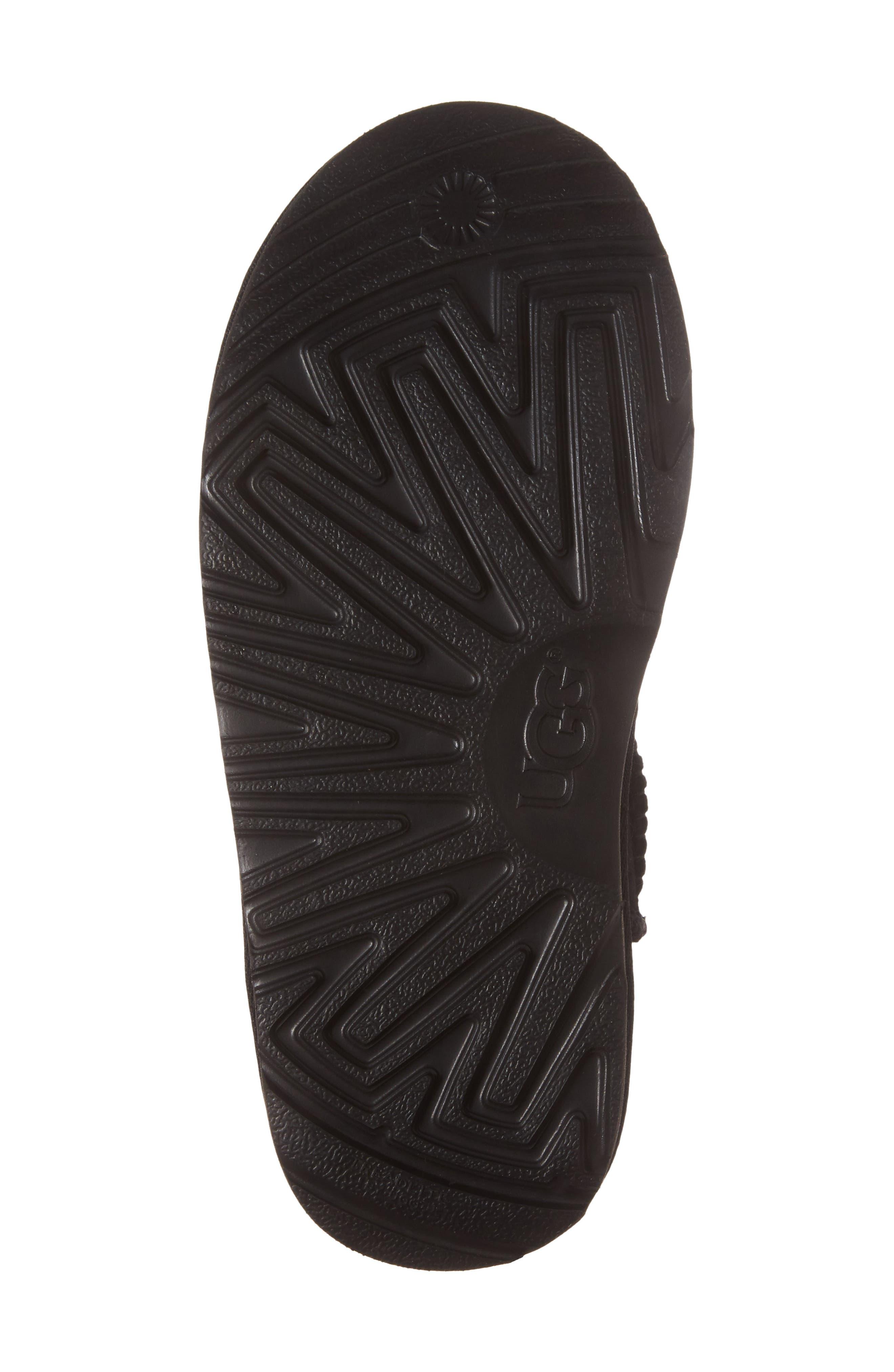 Classic Mini II Water-Resistant Genuine Shearling Boot,                             Alternate thumbnail 6, color,                             BLACK